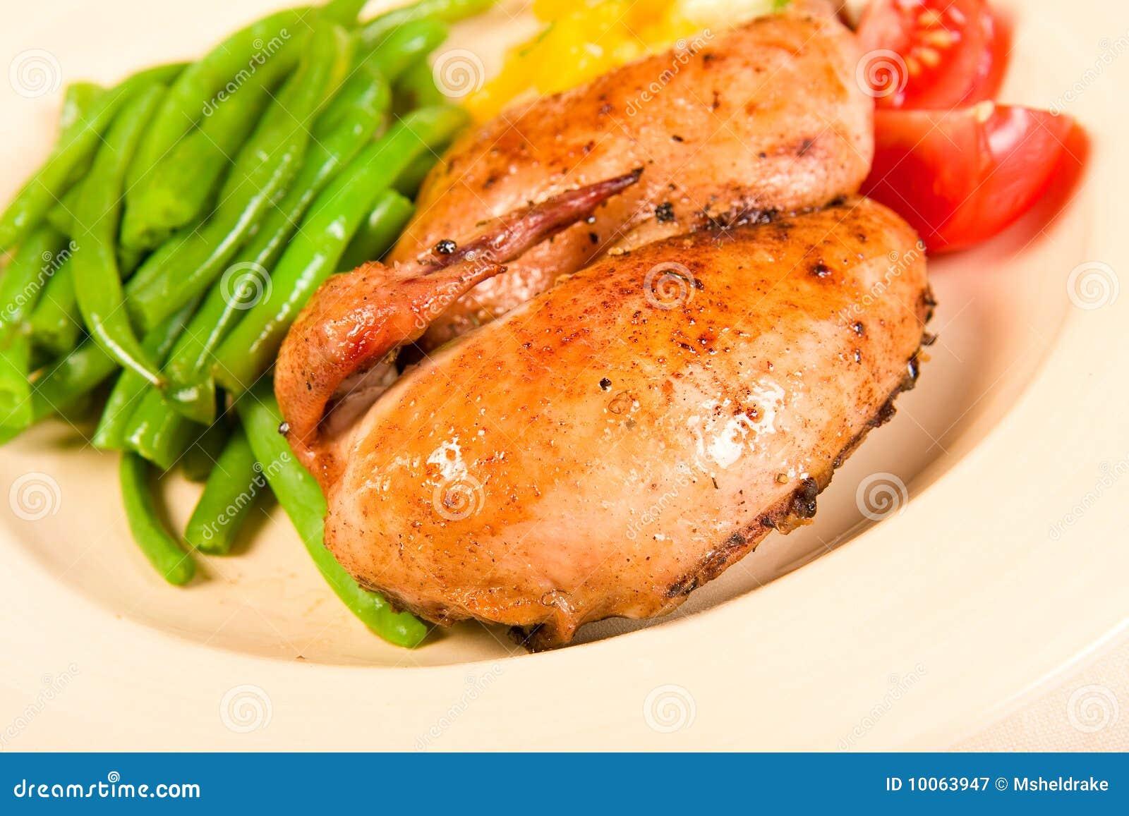 Refeição Cornish da galinha