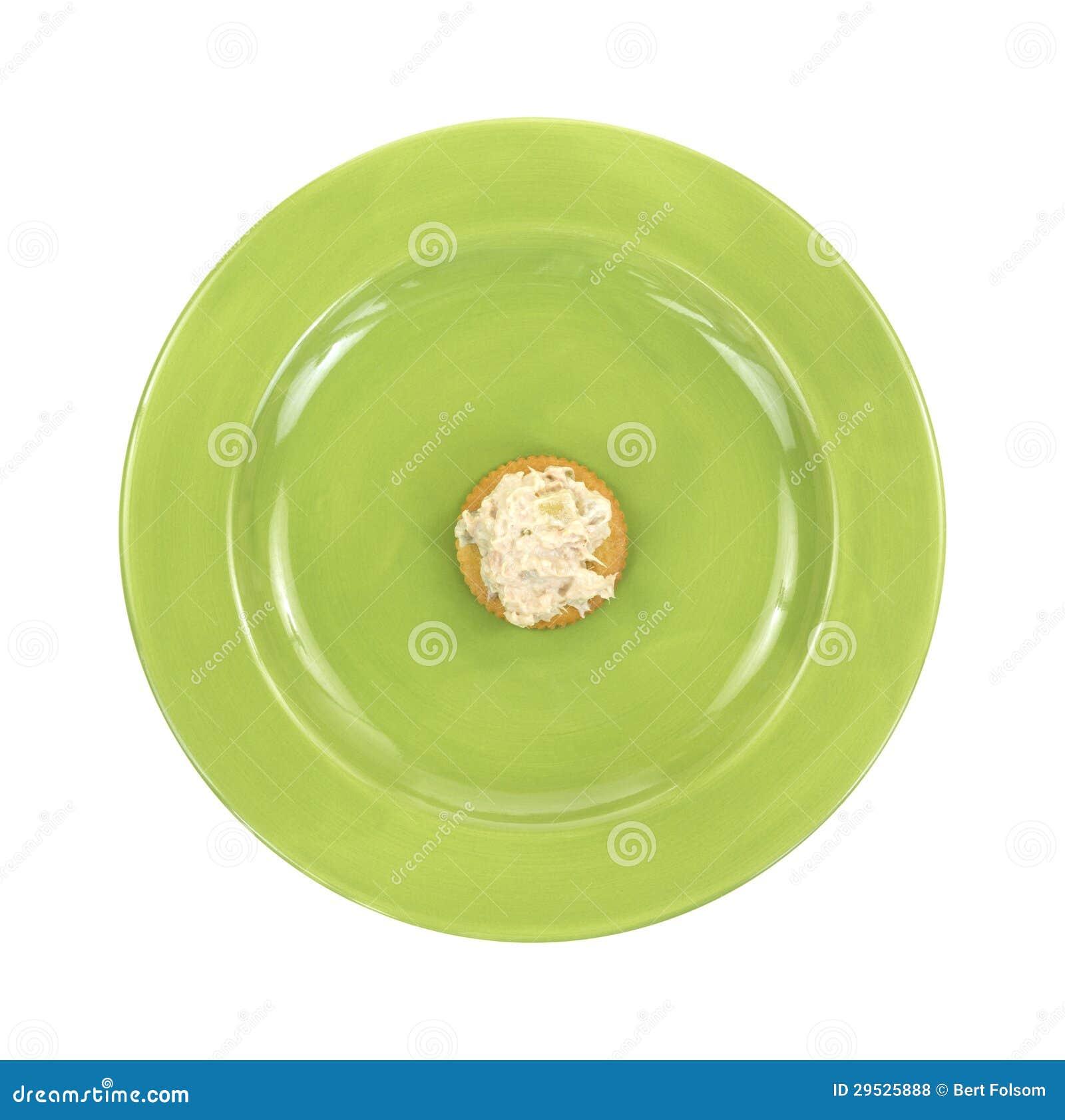 Refeição da dieta da salada do biscoito e de atum