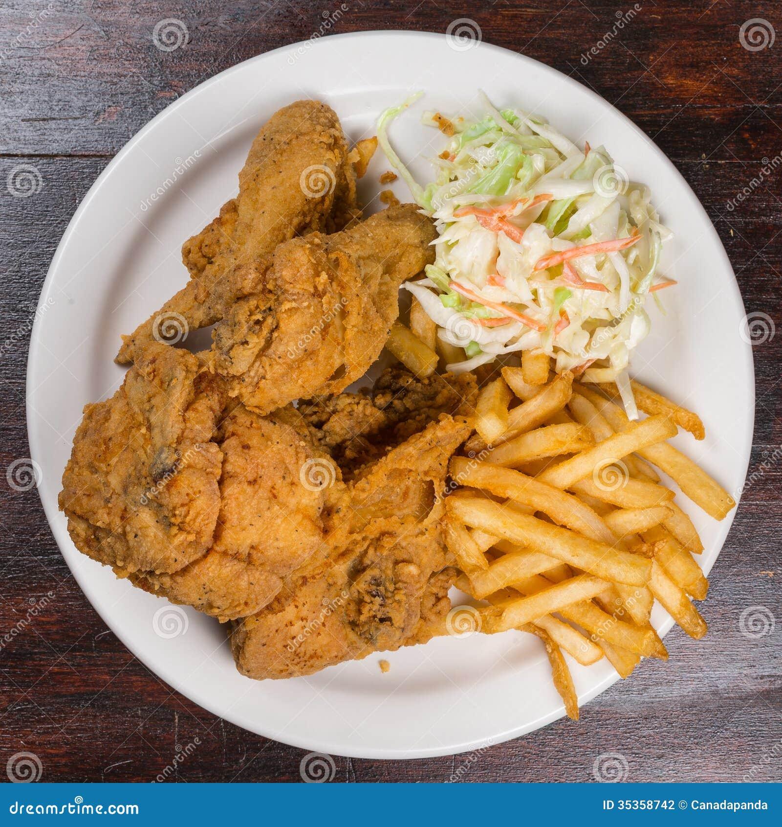 Refeição do frango frito