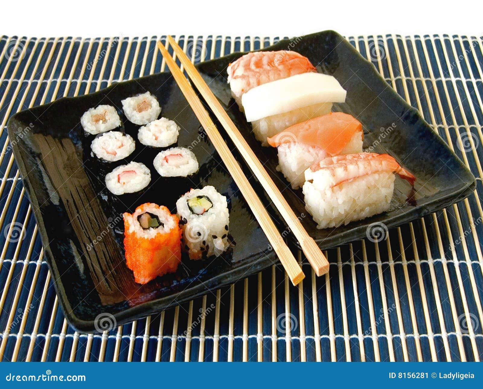 Refei o da bandeja do sushi imagem de stock imagem 8156281 - Bandejas para sushi ...