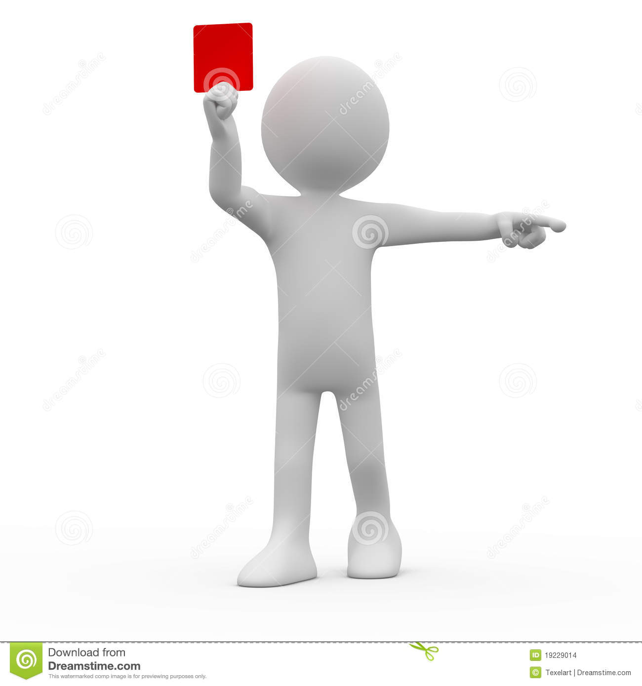 Referee Showing Red Card Stock Images Image 19229014
