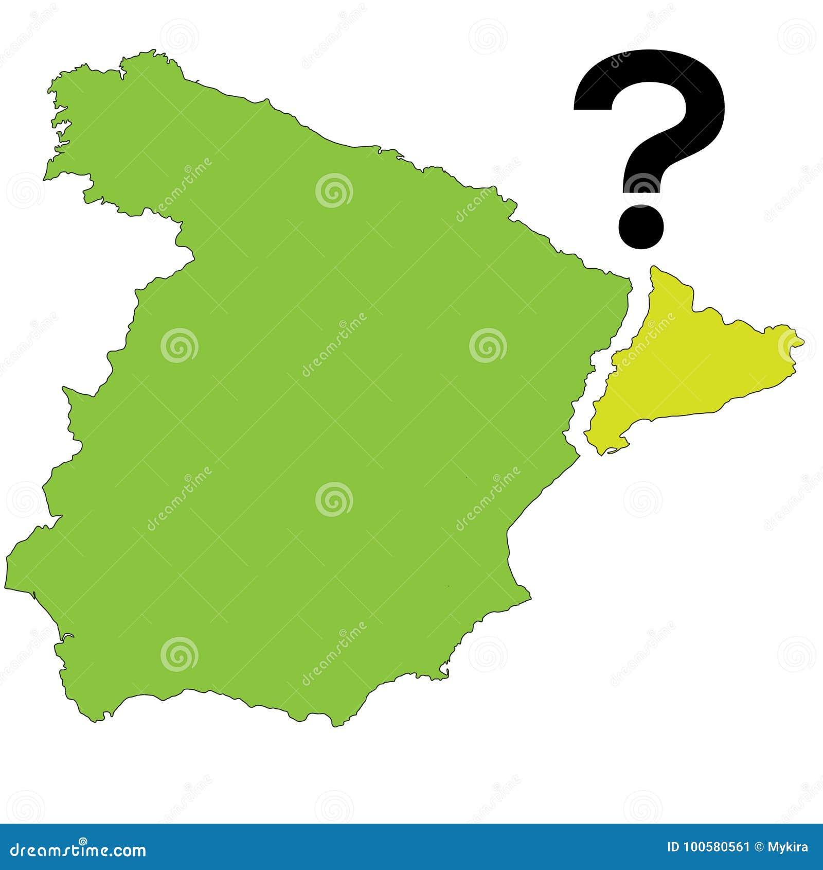 Map Of Spain Catalonia.Referendum Spain Catalonia Vector Illustration Stock Vector