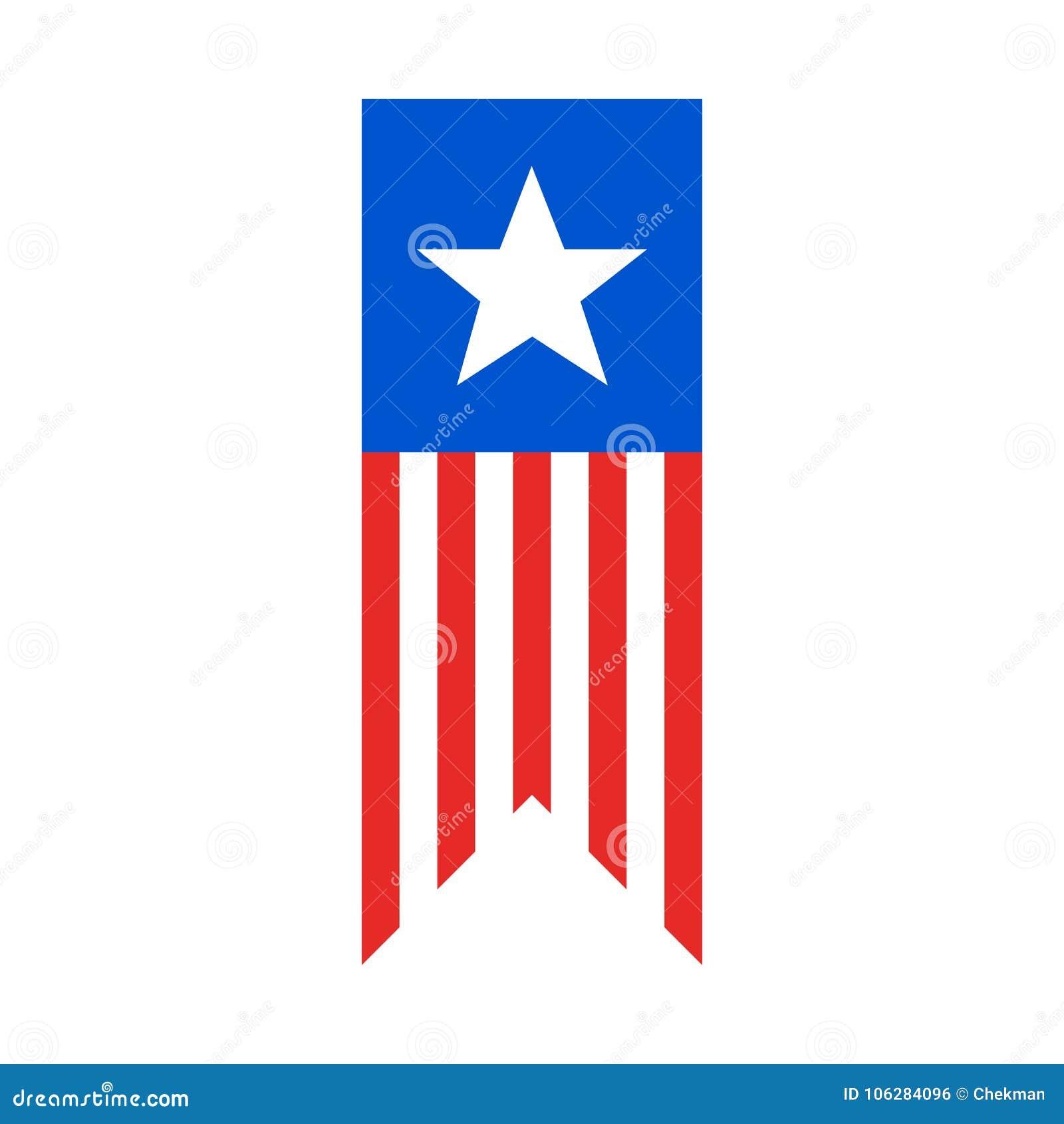 Referentie als Amerikaanse vlag Vector illustratie