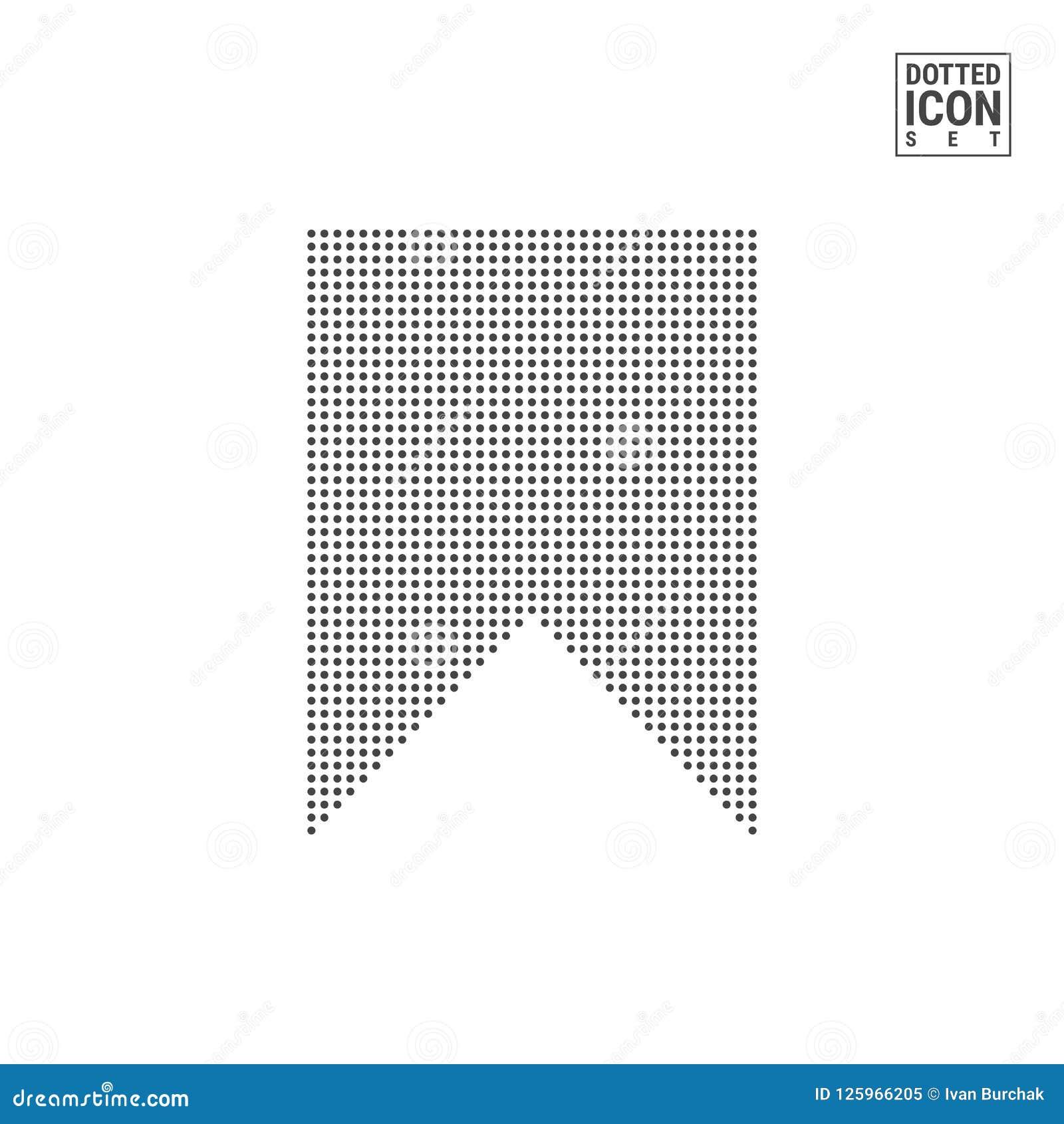 Referentie Dot Pattern Icon Lezingsteller Gestippeld die Pictogram op Wit wordt geïsoleerd Vectormalplaatje Als achtergrond of On