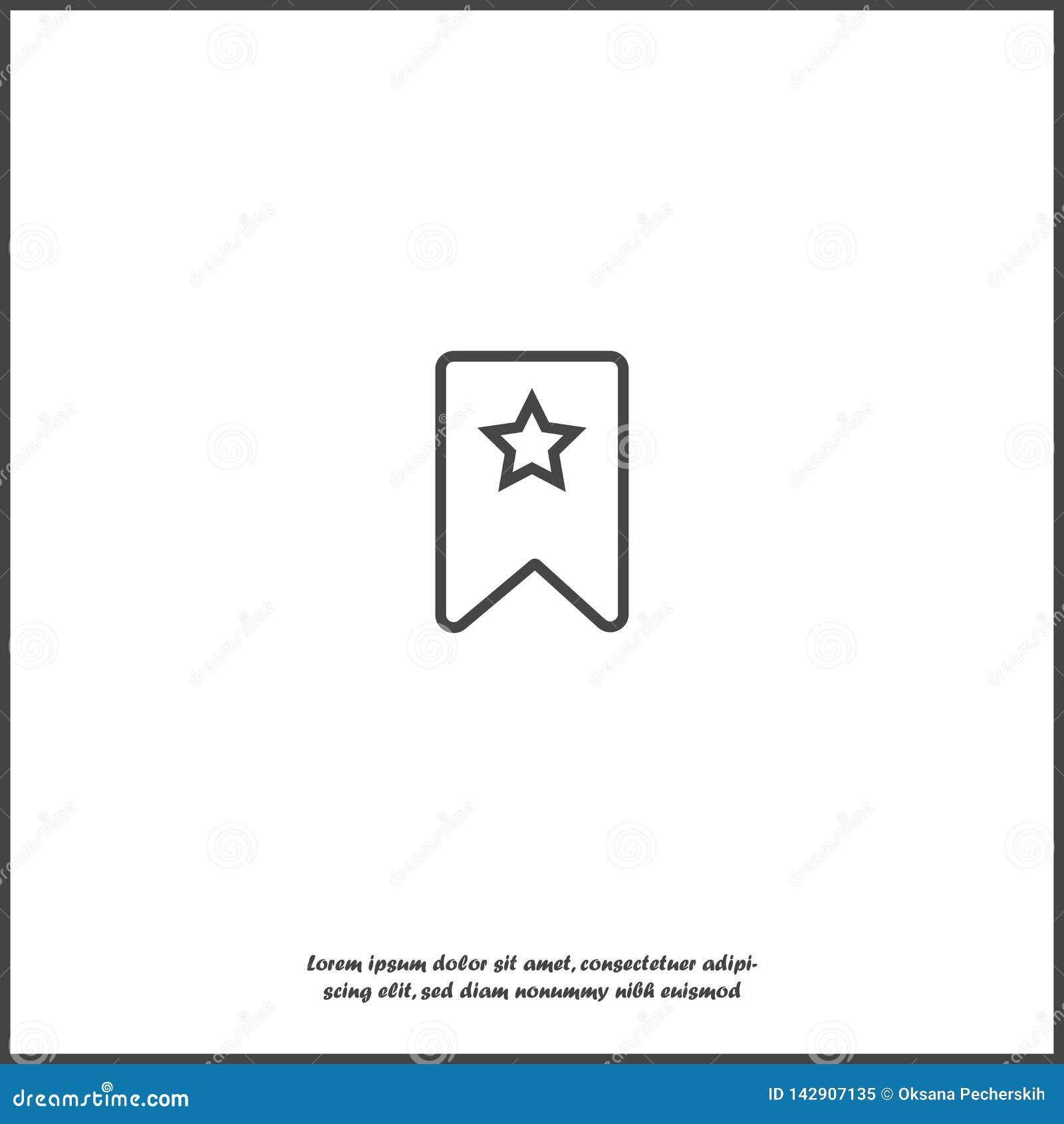 Referentie met ster op wit geïsoleerde achtergrond Lagen voor gemakkelijke het uitgeven illustratie worden gegroepeerd die