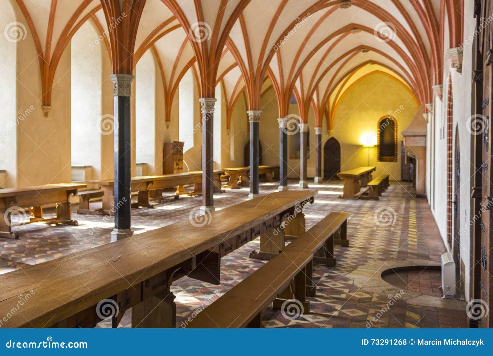 Refettorio del castello in Malbork, Polonia
