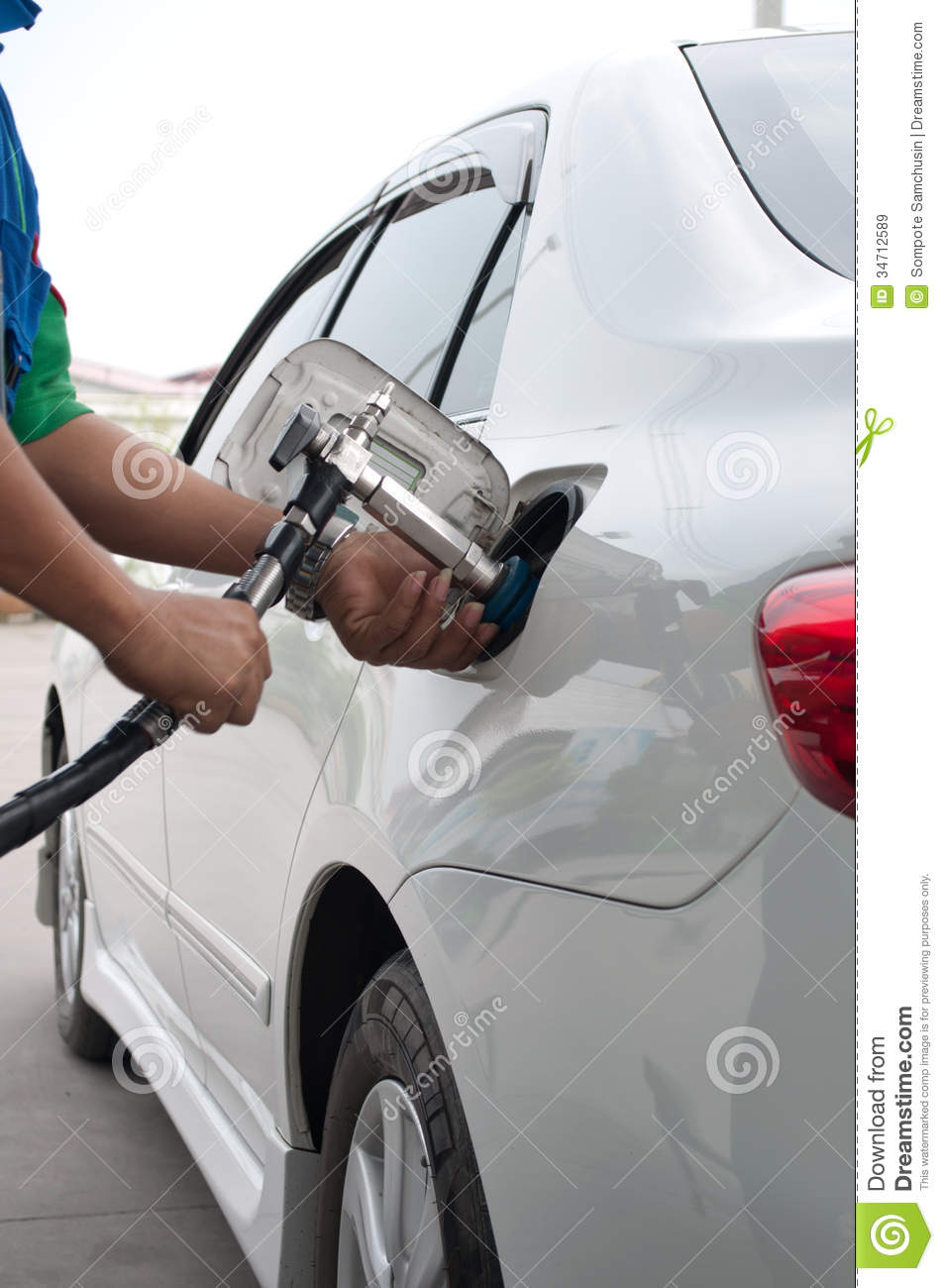 Refill CNG Gas At Fuel Station Royalty Free Stock Images ...