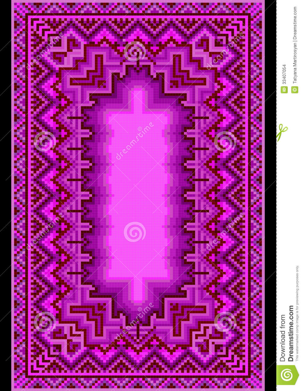 Refined Oriental Carpet In Purple Shades Stock Images