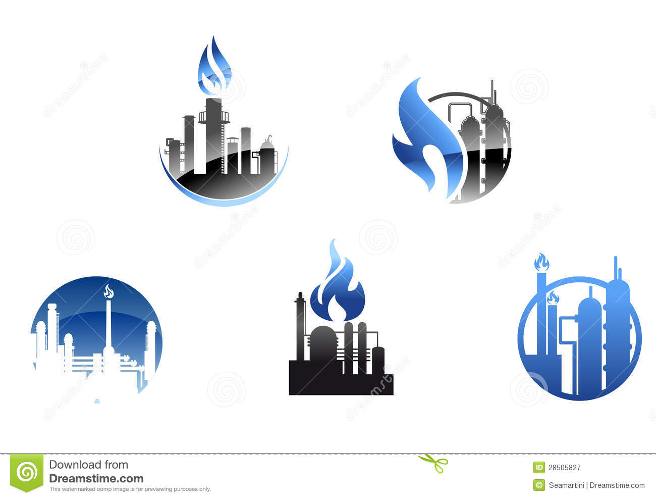 Refinery Factory Icons And Symbols Royalty Free Stock Photography ...
