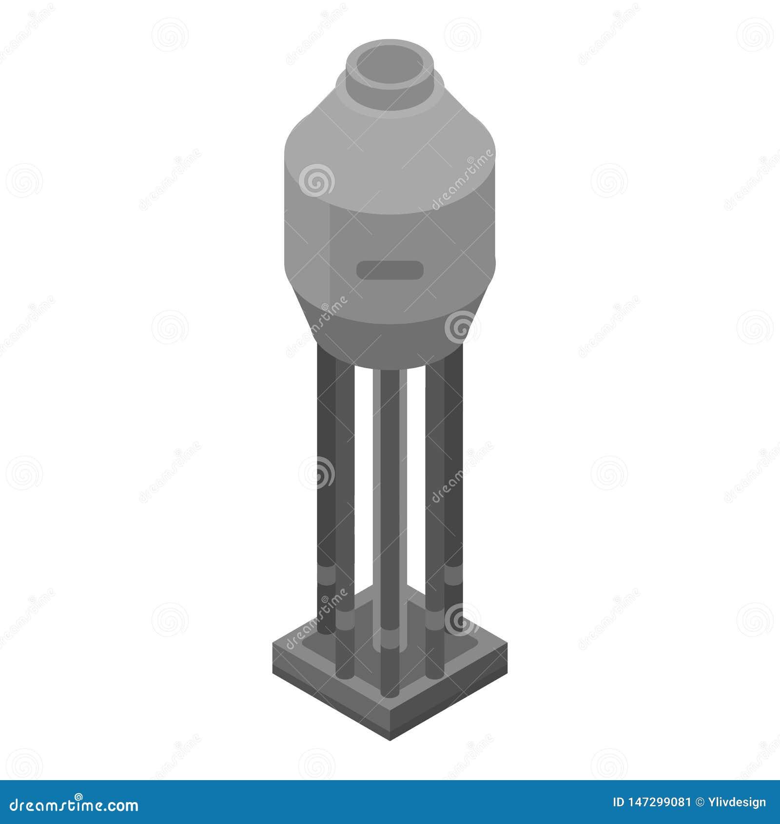 Refinery Plant Tank Icon, Isometric Style Stock Vector