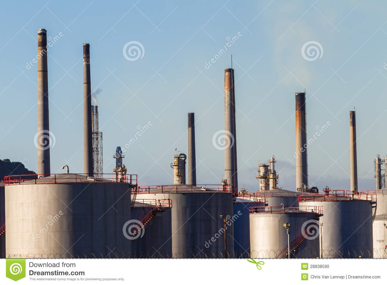 petroleum plant in Durban South Africa. All the storage tanks ...