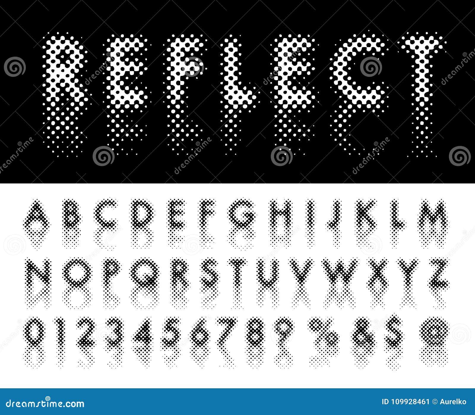 Reflect Dot Font Royalty Free Vector Download