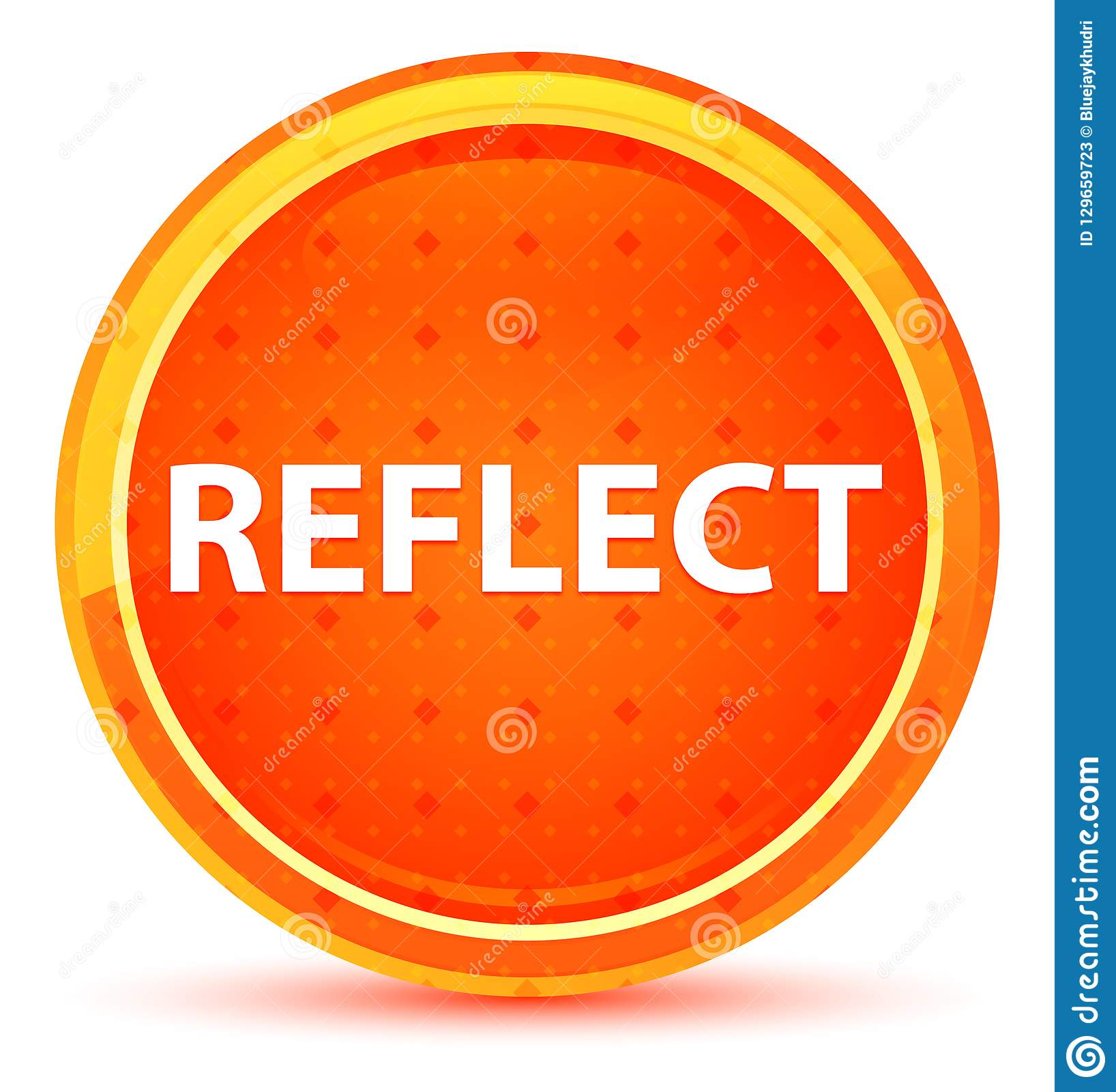 Reflect Natural Orange Round Button