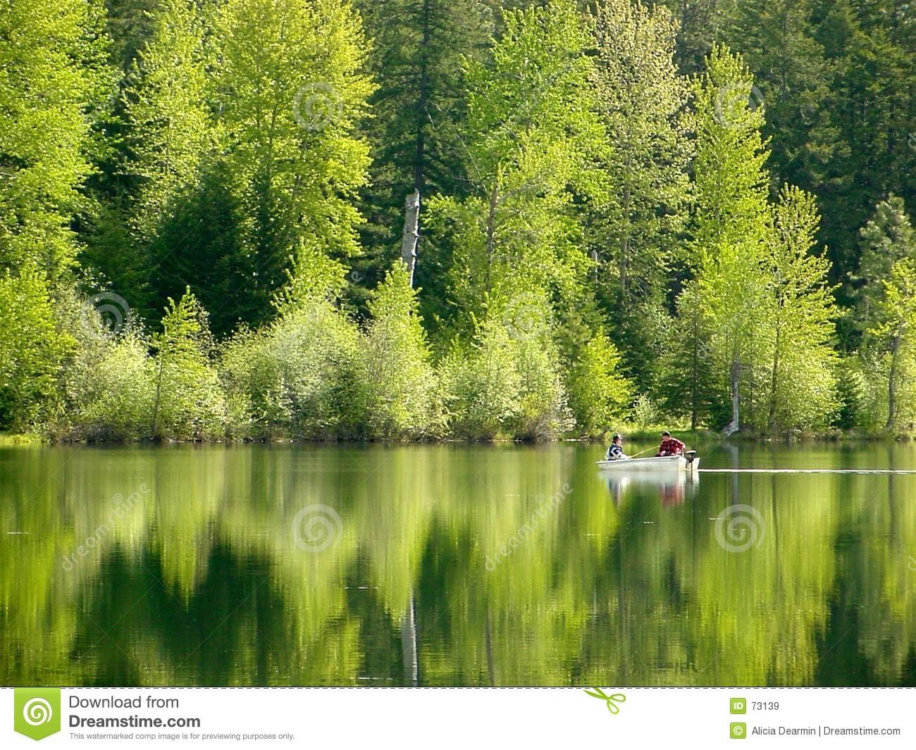 Reflecting Pond Stock Image Image Of Boating Mirror