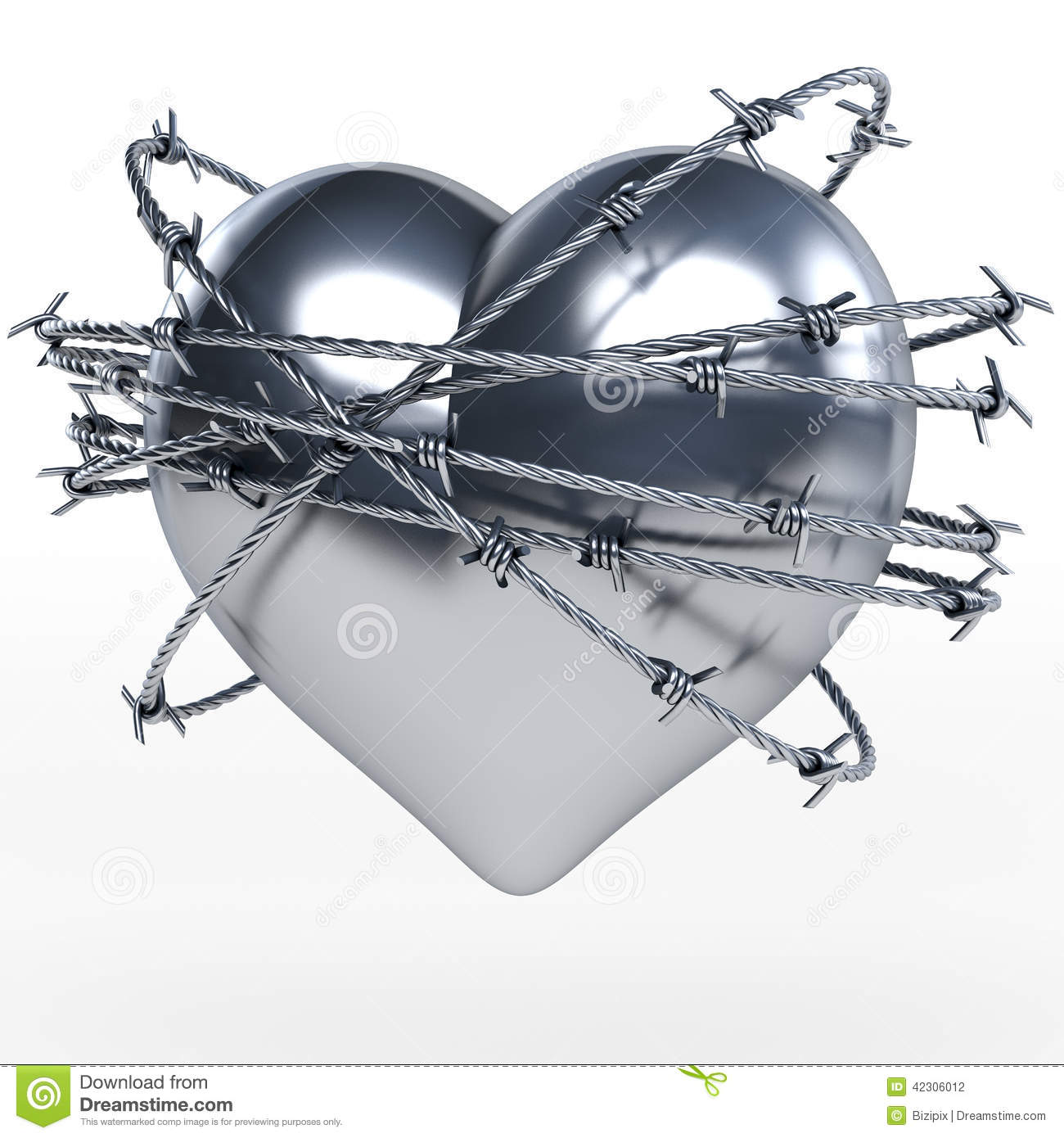 Heart Barbed Wire Stock Photos - Royalty Free Stock Images
