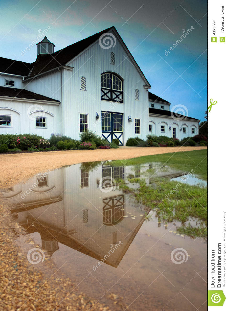 Reflection of the barn