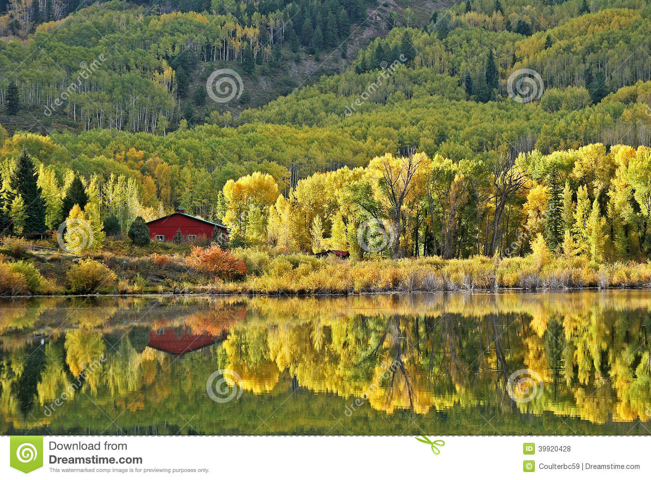 Reflection In Beaver Lake Near Marble Co Stock Photo