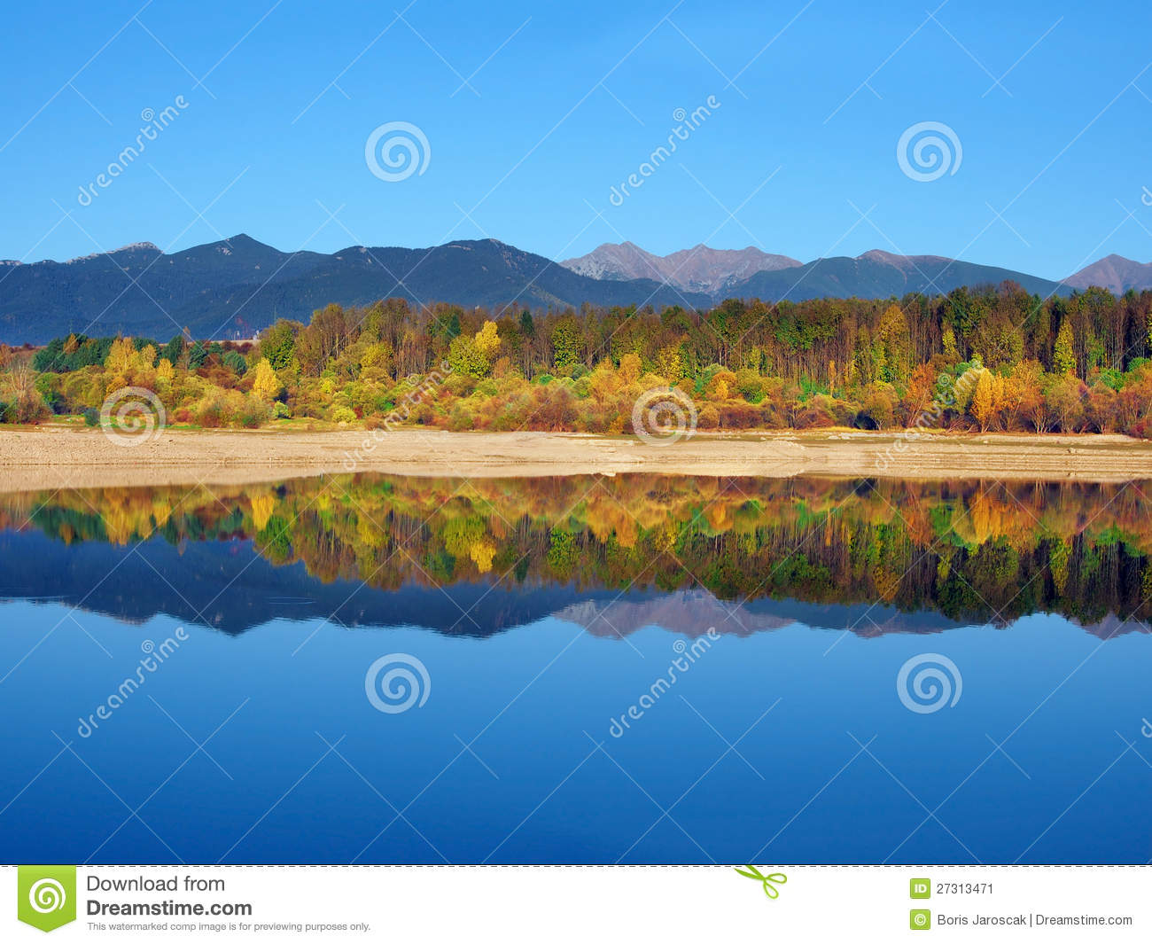 Reflection of Rohace Mountains during autumn