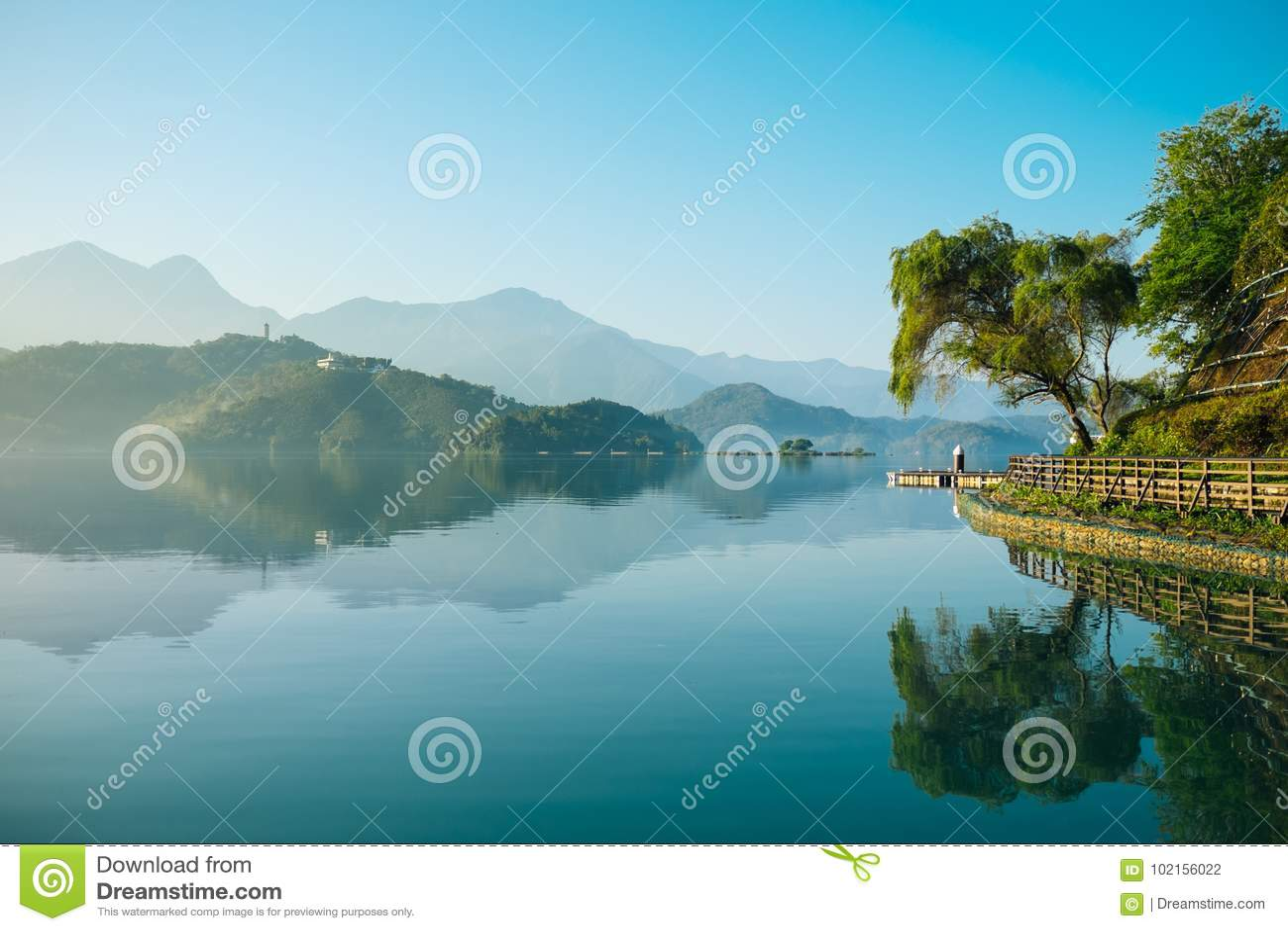 Reflection on the Sun Moon lake