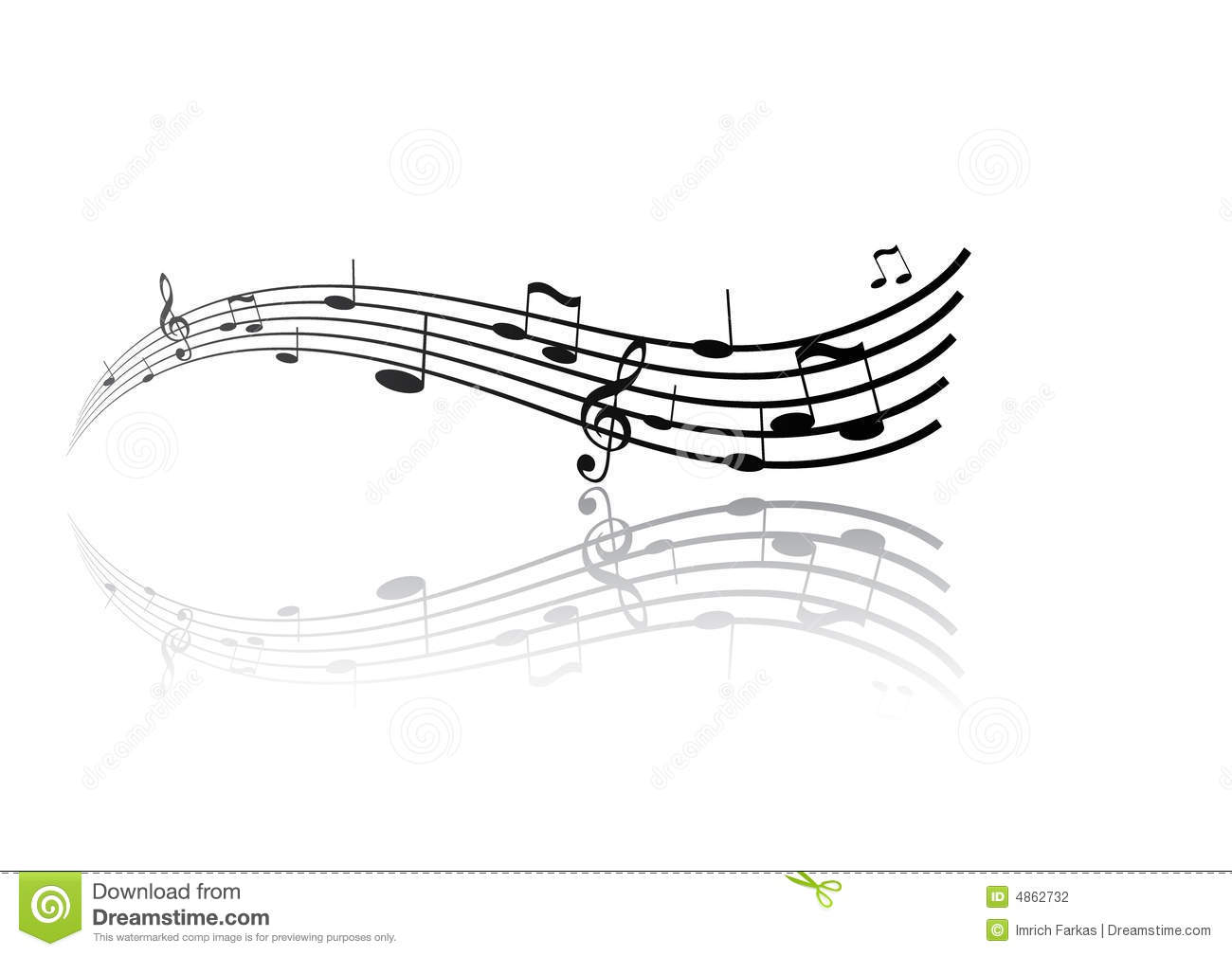 Reflection Of Tunes Vector
