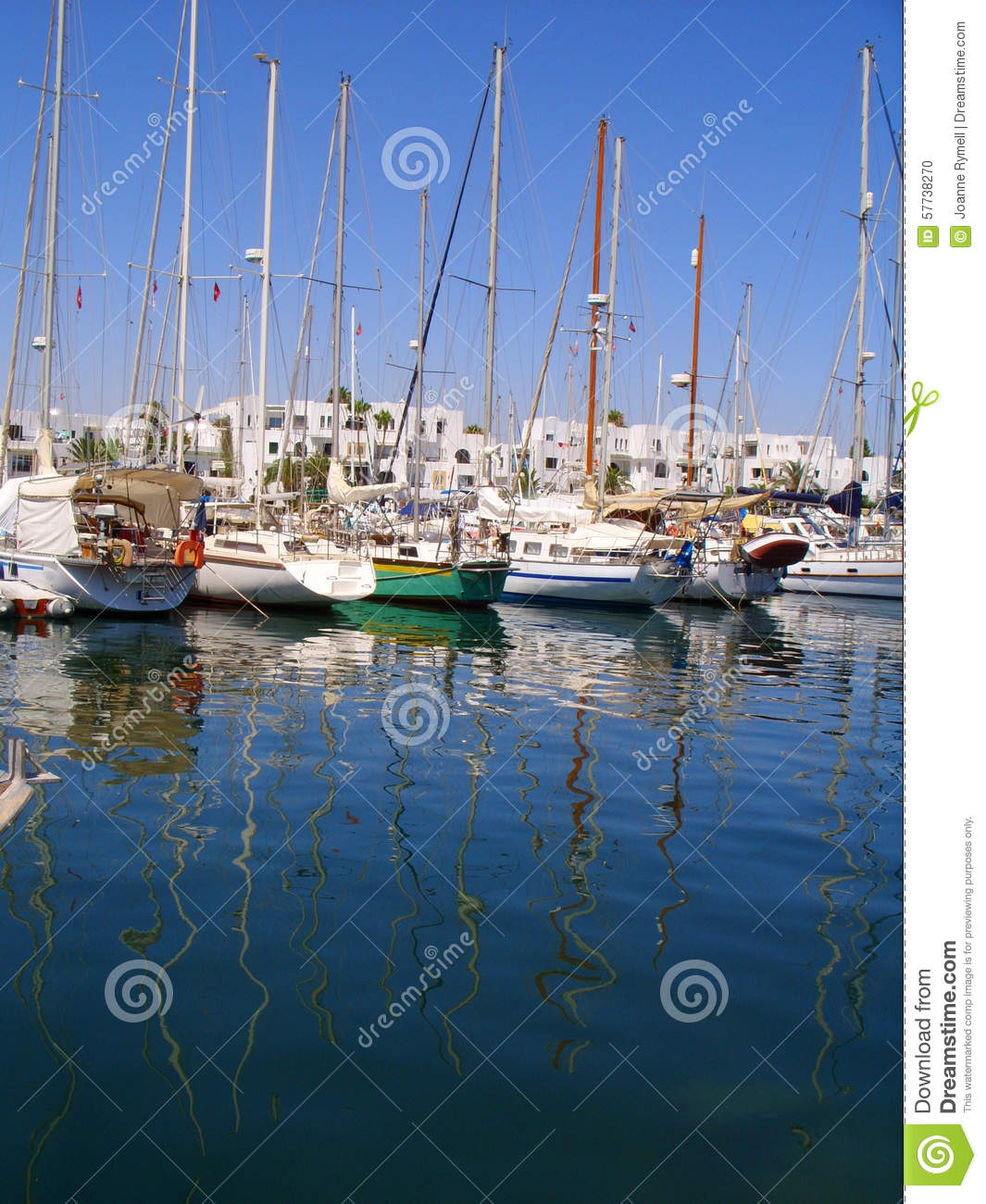 Yachts In Port Royalty Free Stock Image Cartoondealer