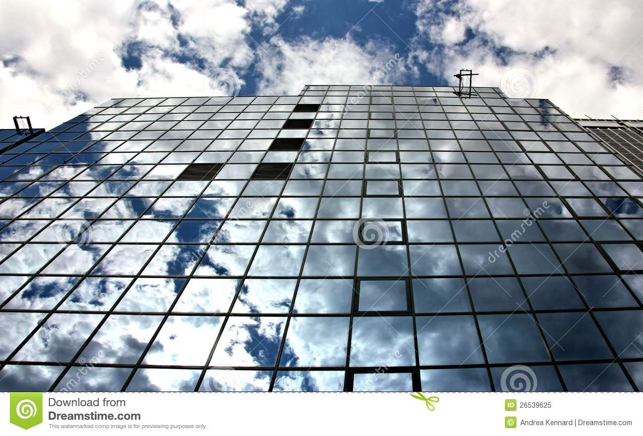 Reflections In Steel And Glass Architecture Royalty Free