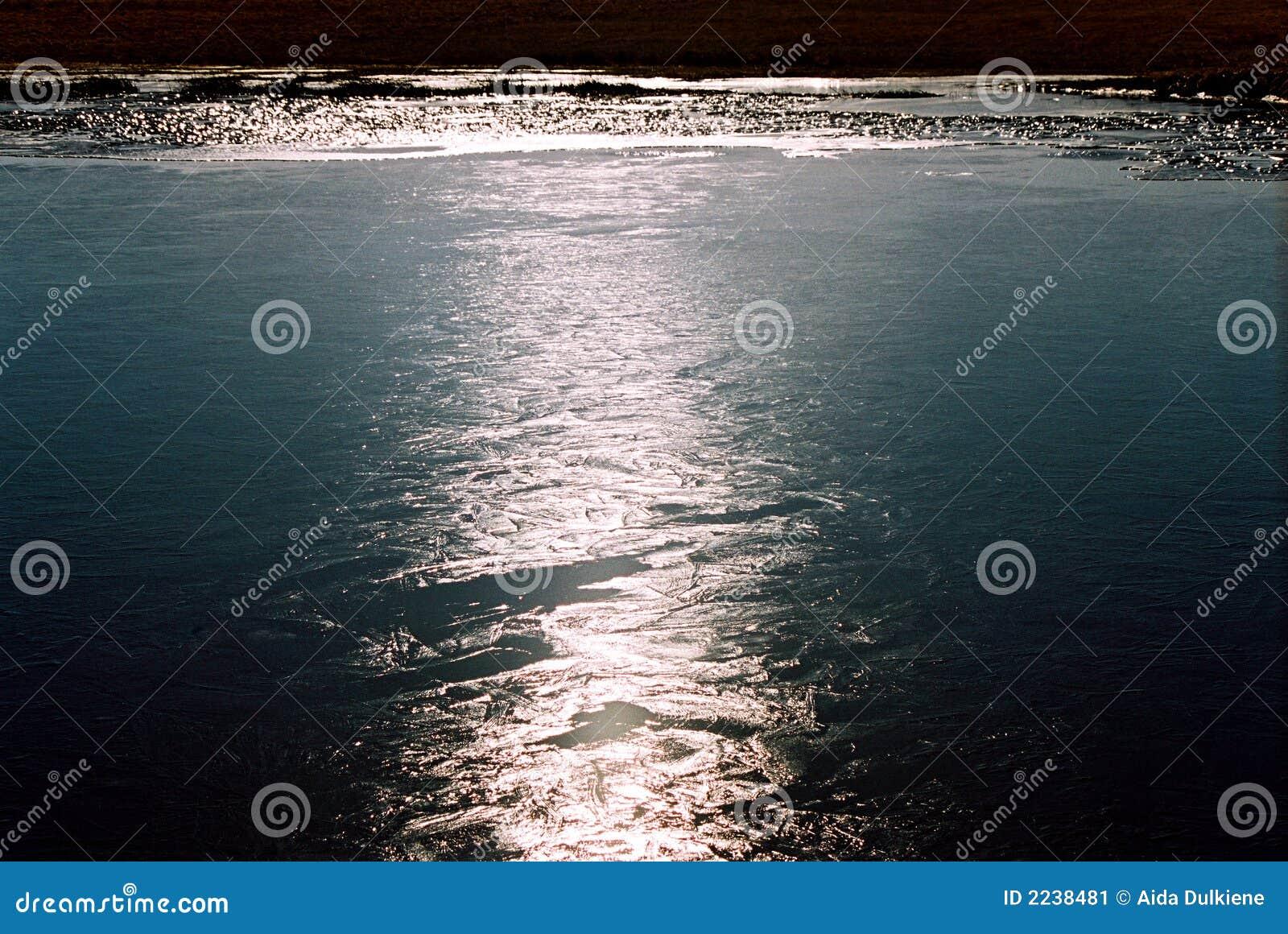 Reflexão clara na água