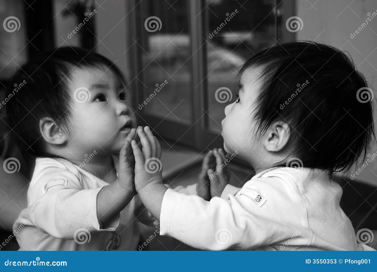Reflexão do bebê