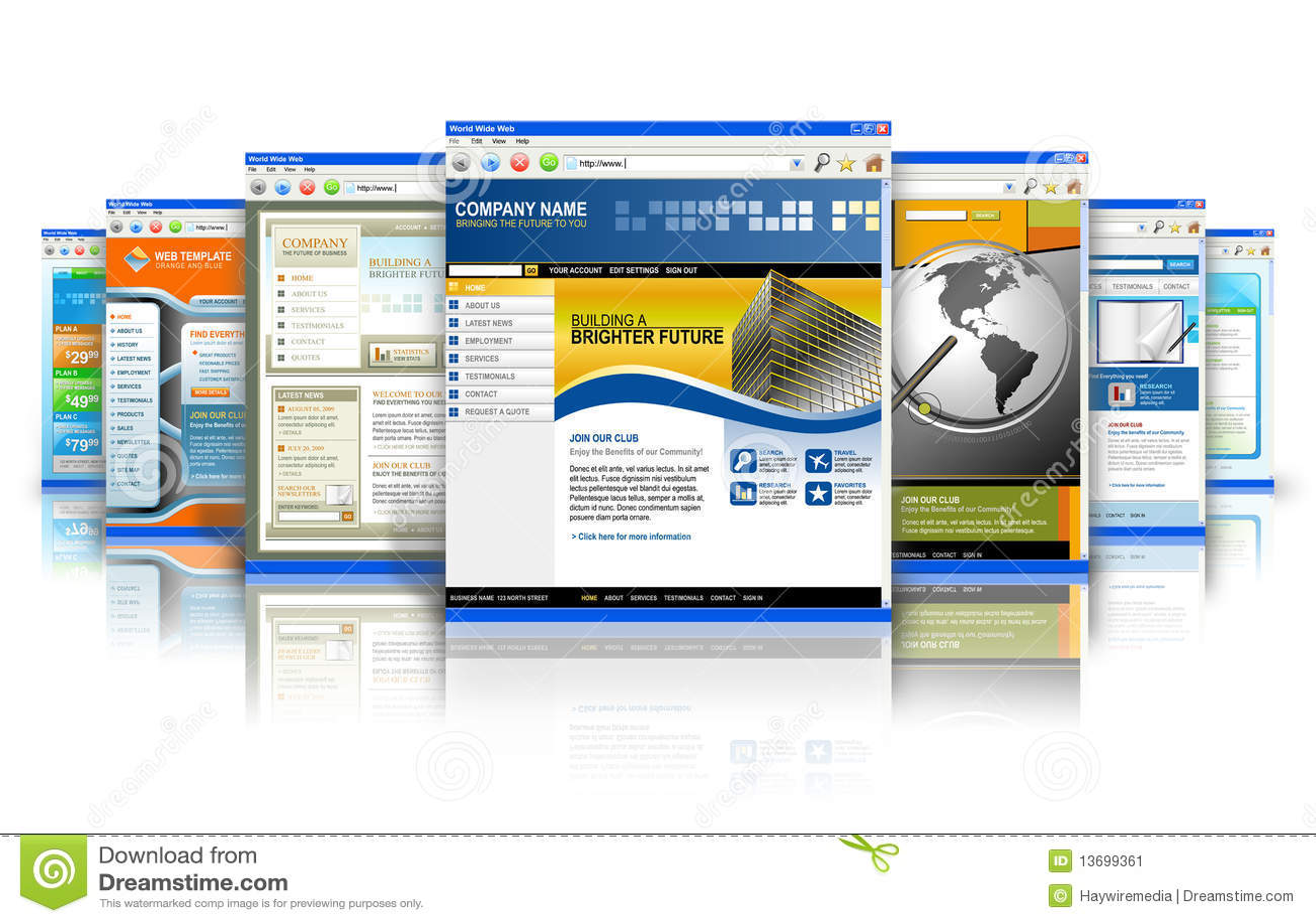 Reflexión de los Web site del Internet de la tecnología