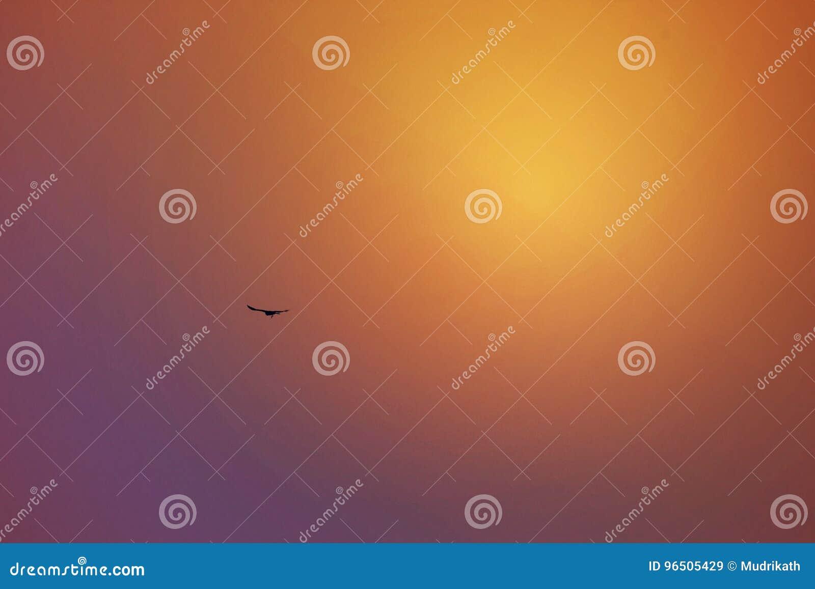 Reflexion för inställningssol i himlen, Dubai, UAE på 21 Juli 2017