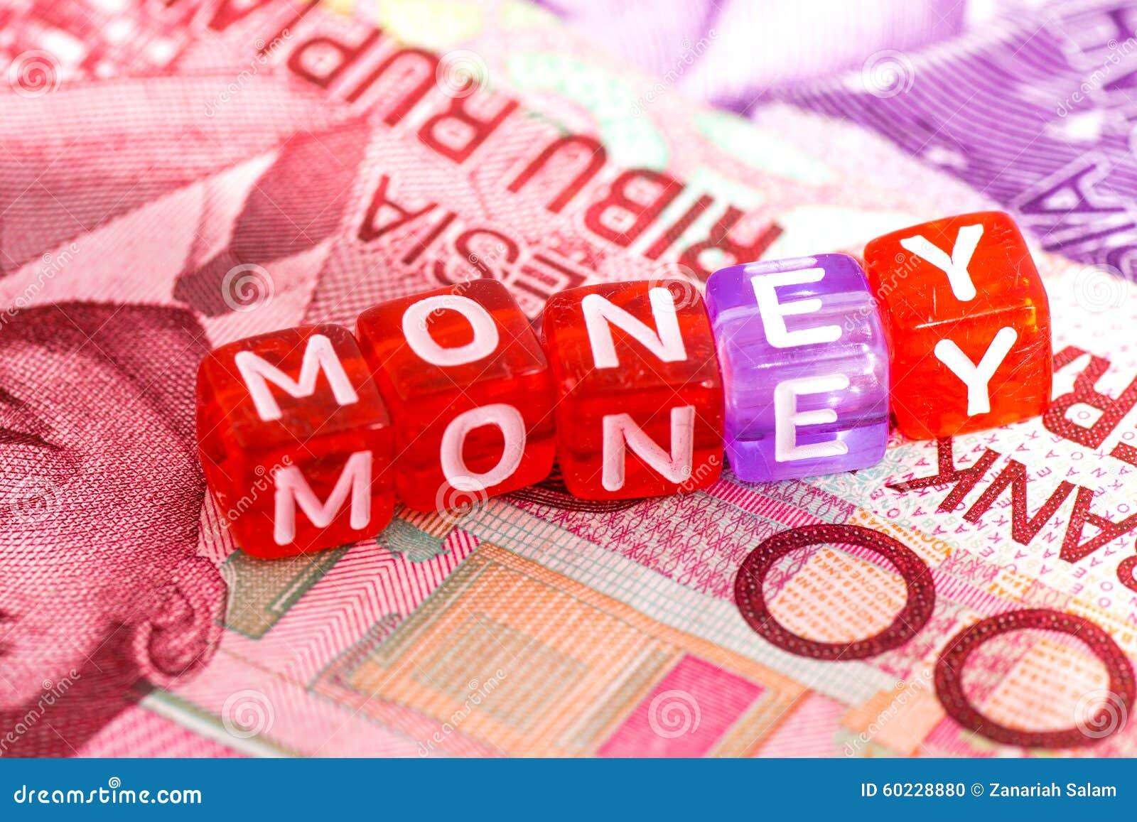 Reflexion för pengar för begreppsgodshus verklig