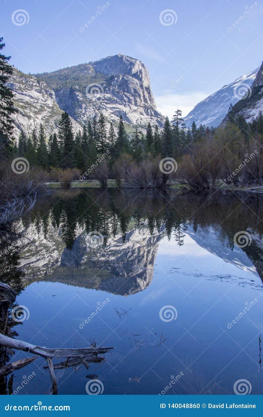 Reflexion på spegel sjön