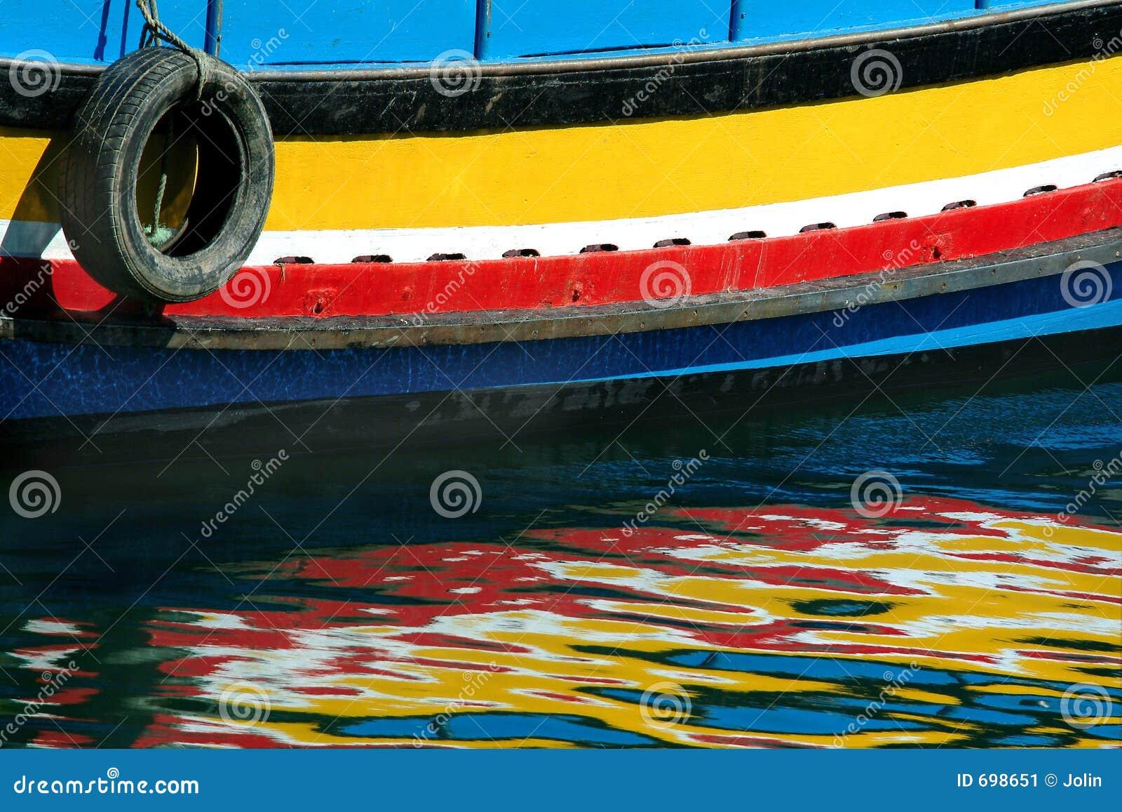 Reflexionen des Bootes