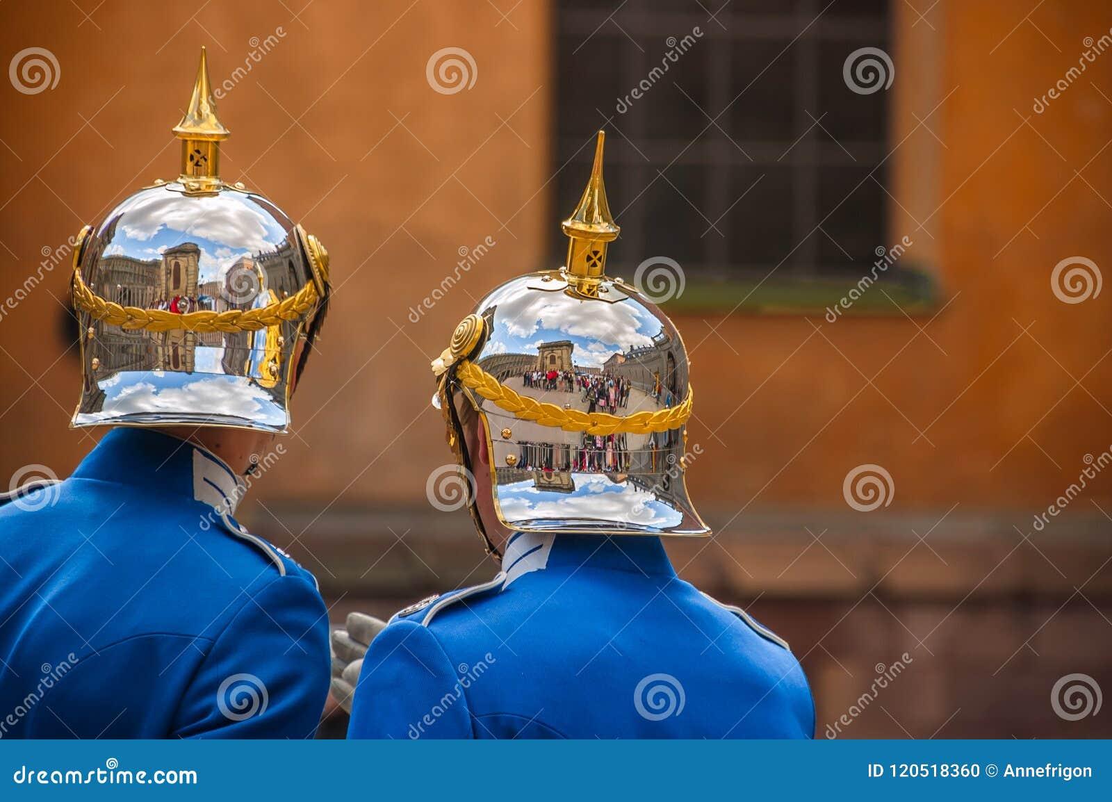 Reflexioner - ändra av vaktceremoni, Royal Palace, Stockho