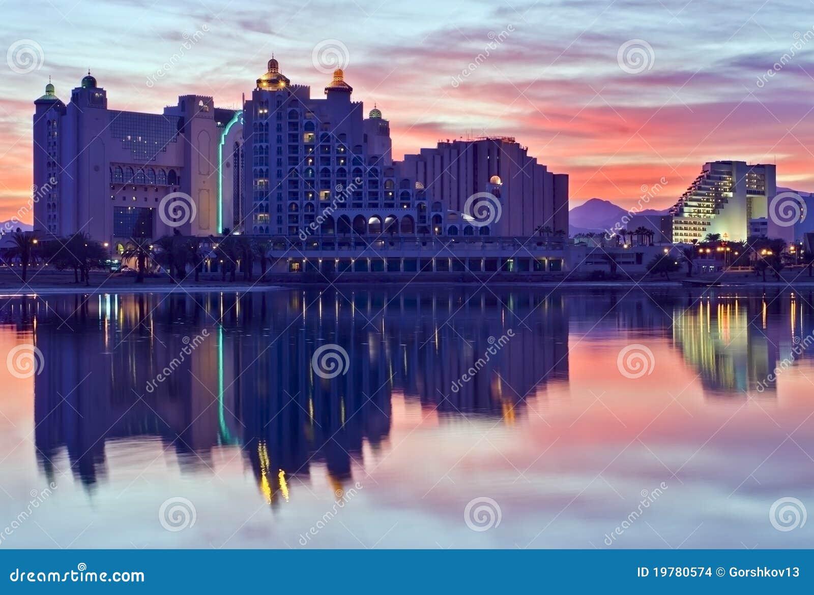 Reflexioner för stadseilatisrael lagun