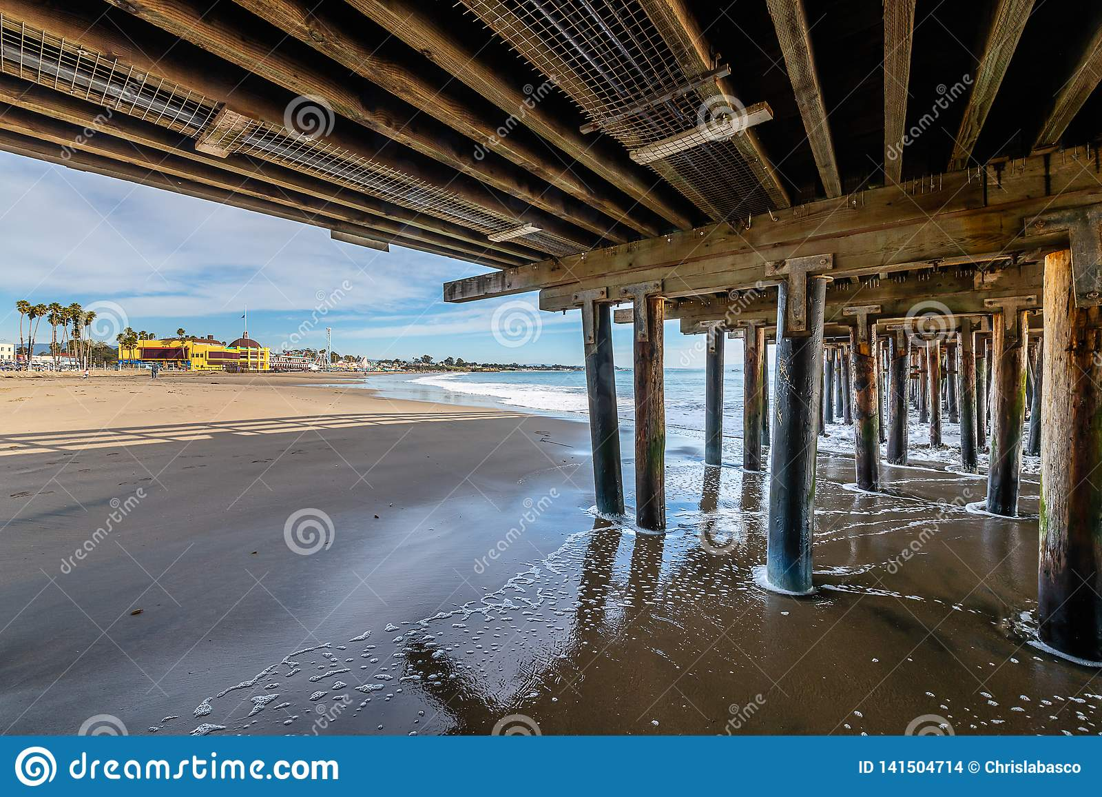 Reflexiones a lo largo de Santa Cruz Beach Boardwalk
