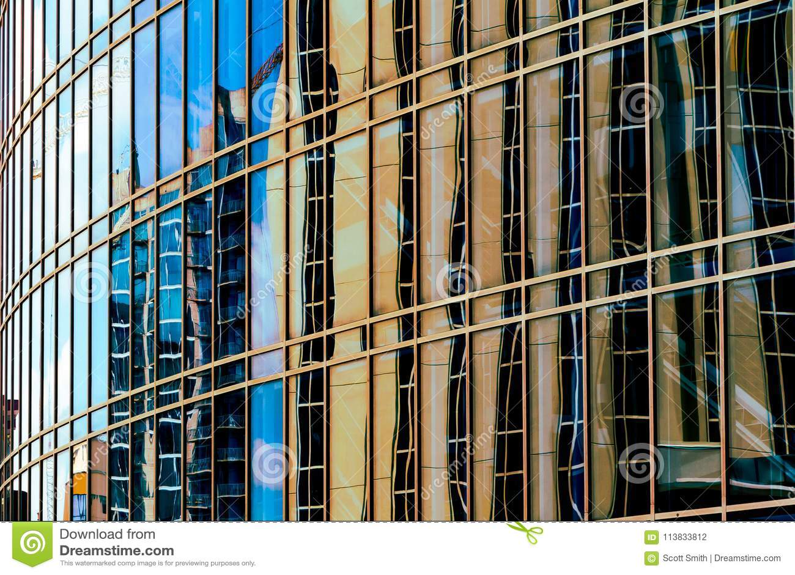 Reflexiones urbanas abstractas con una sensación moderna de la ciencia ficción