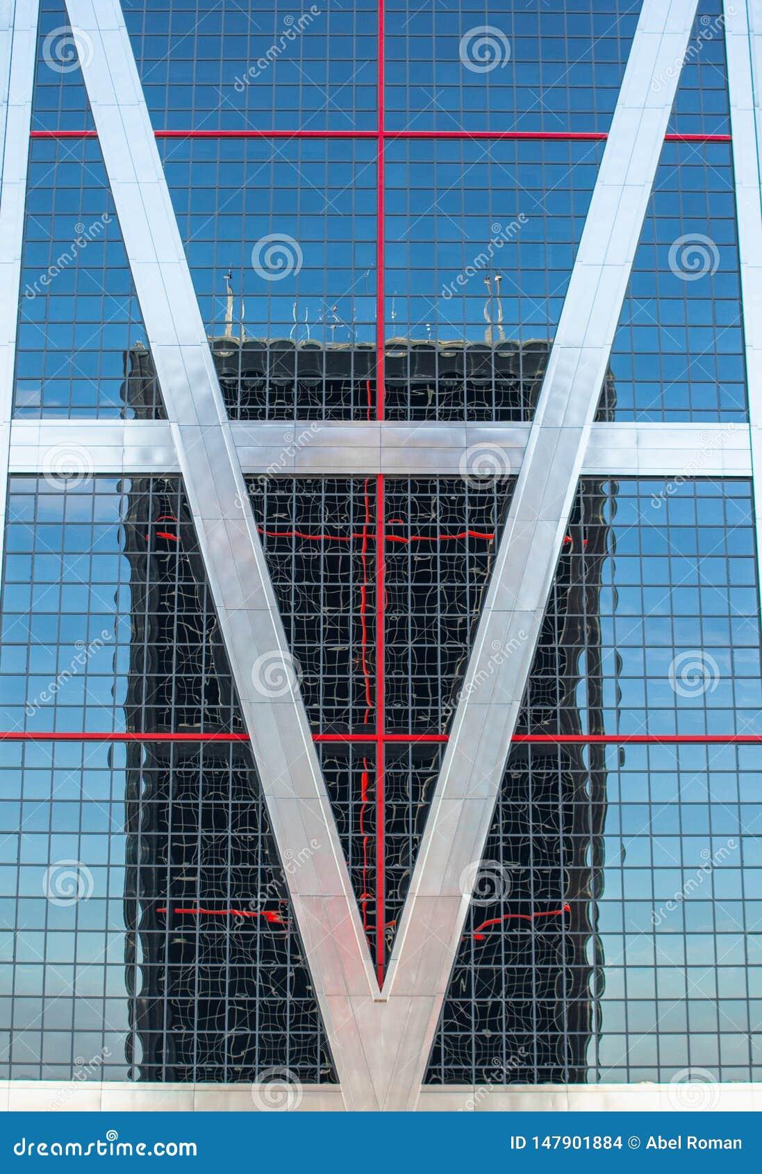 Reflexiones urbanas en edificios Im?genes abstractas deformando mirrorsabstra