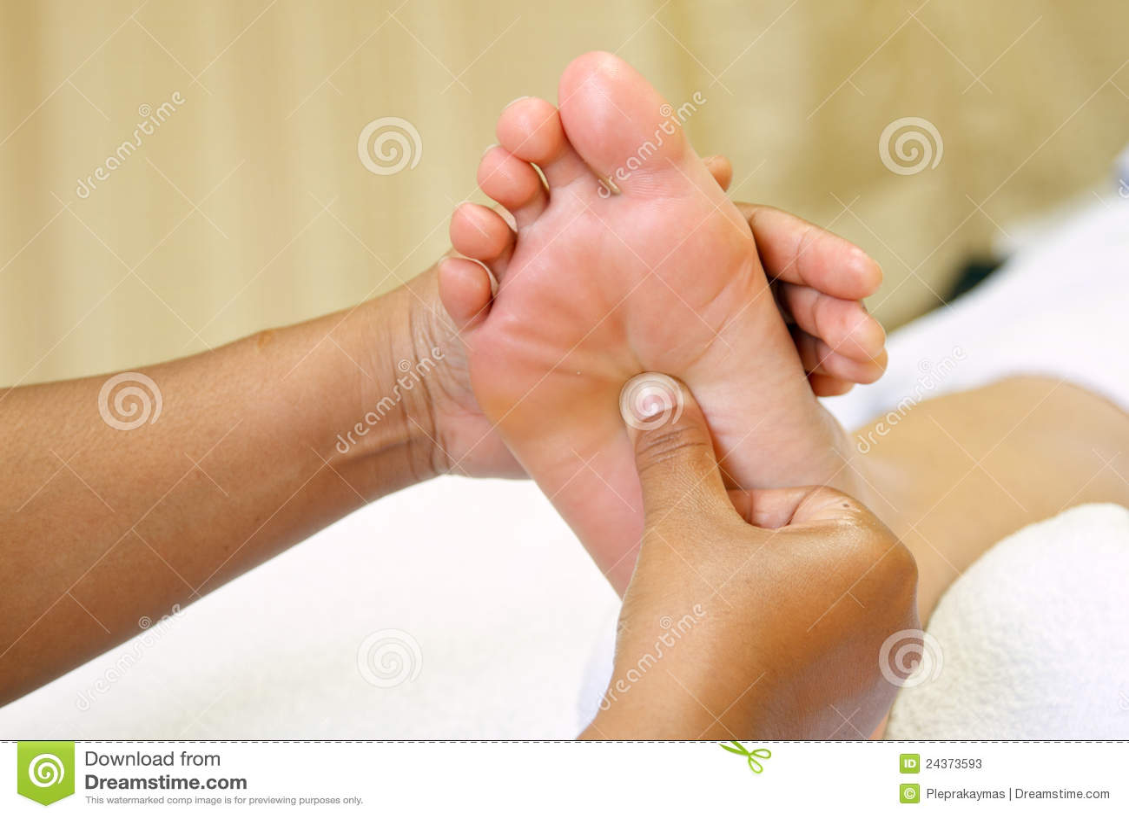 Reflexology Fußmassage, Badekurortfuß