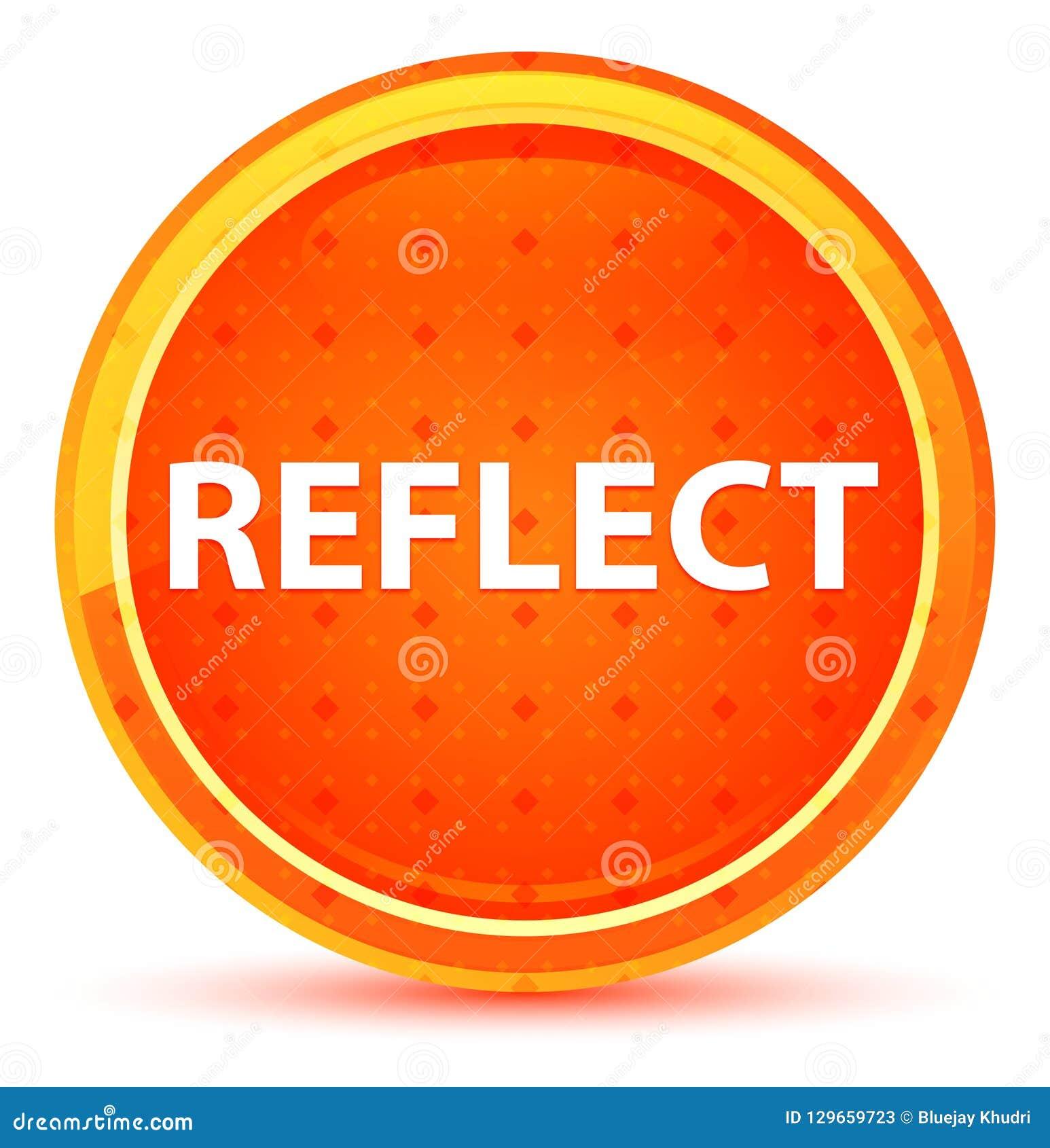 Reflita o botão redondo alaranjado natural
