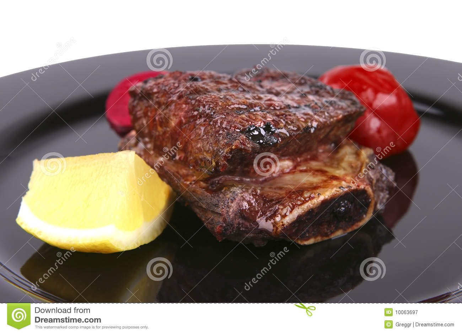 Reforços no prato preto
