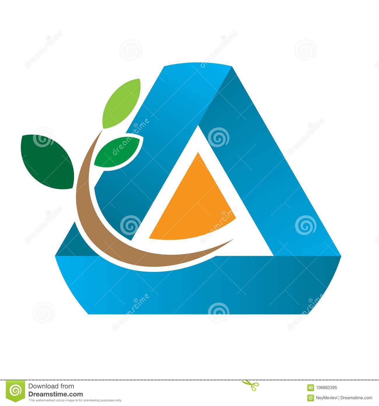 Reforestation Symbol 3 Leaves Stock Vector Illustration Of Ecology