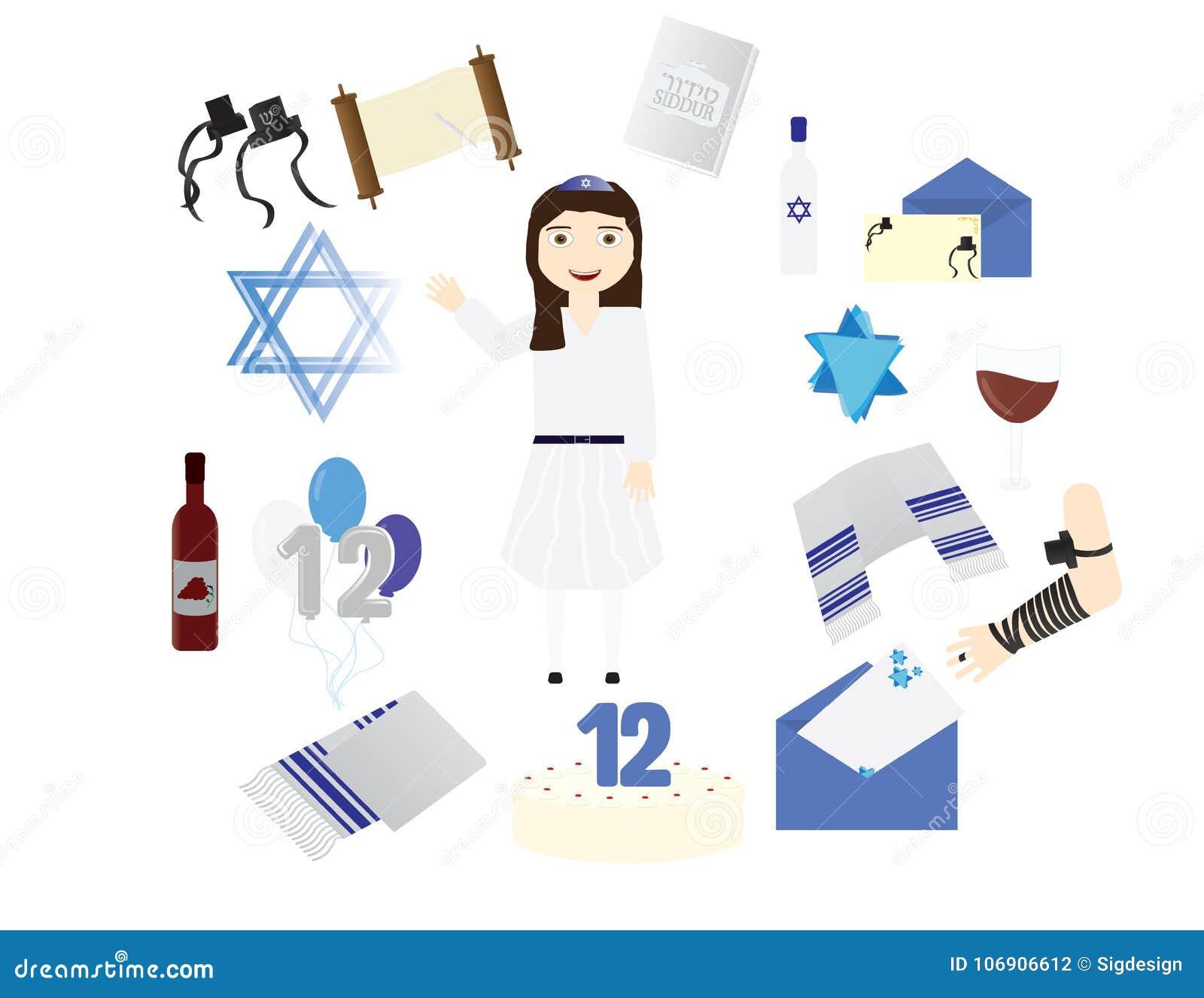 Reformuje Żydowskiej dziewczyny z tradycyjnymi nietoperza mitzvah elementami