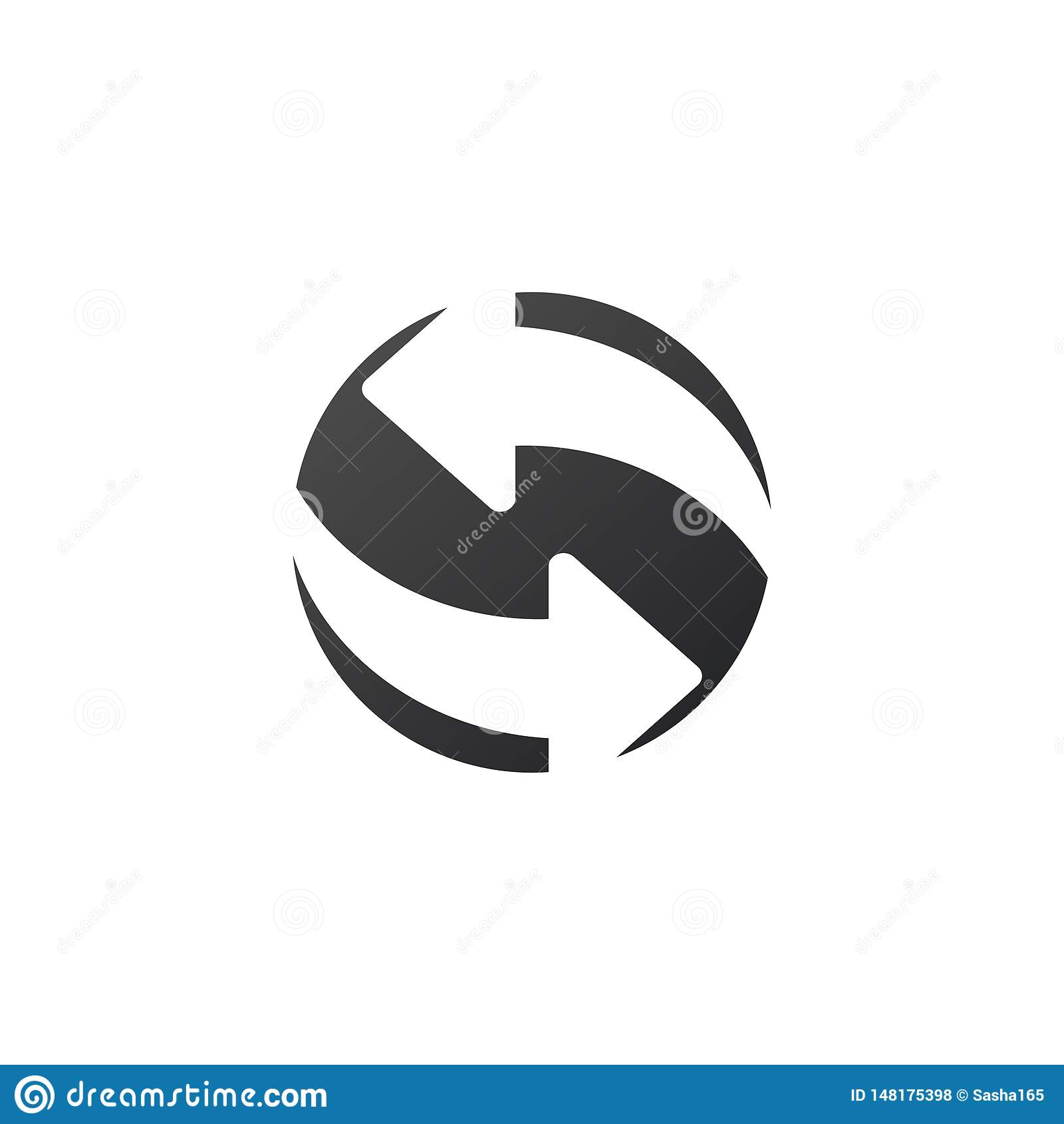 Refresh, Reload Isolated Flat Web Mobile Icon. Vector illustration isolated on white background