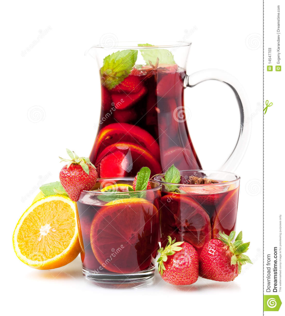 refreshing fruit sangria in jug and two glasses stock image image 14547703. Black Bedroom Furniture Sets. Home Design Ideas