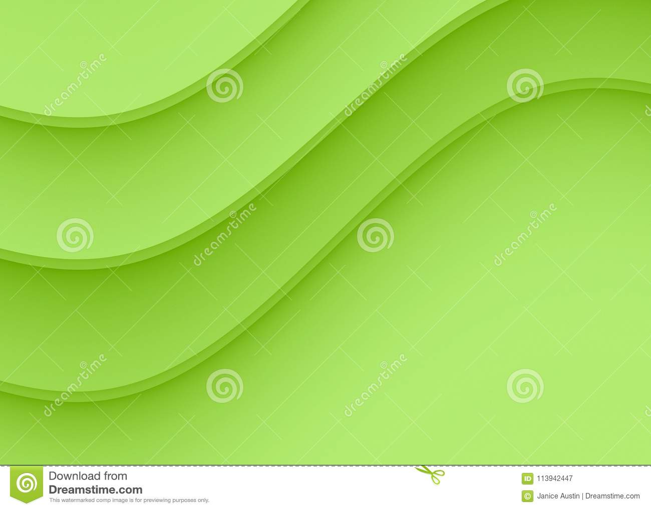 download refreshing lime green smooth gentle curves abstract background design stock vector illustration of colorful