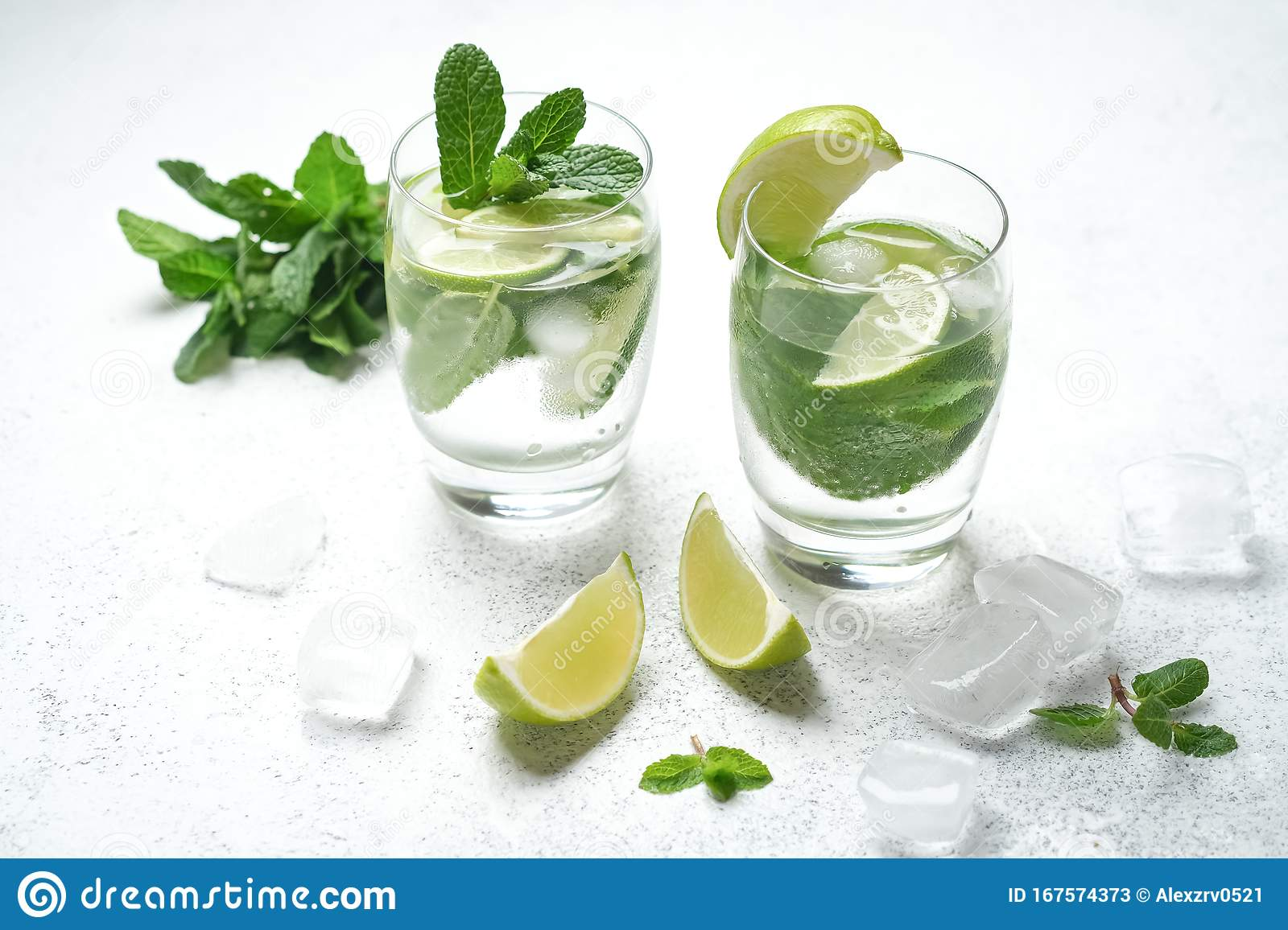 Refreshing Mojito Cocktail With Mint Rum And Lime Stock Image Image Of Freshness Refreshment 167574373