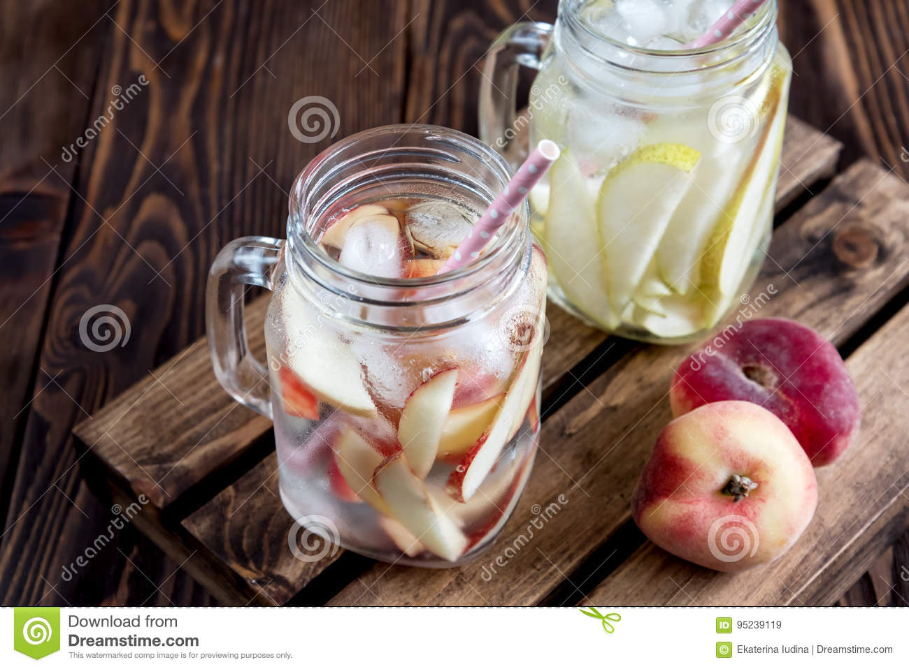 Refreshing Peach Drink Cold Pear Drink Infused Water Cold