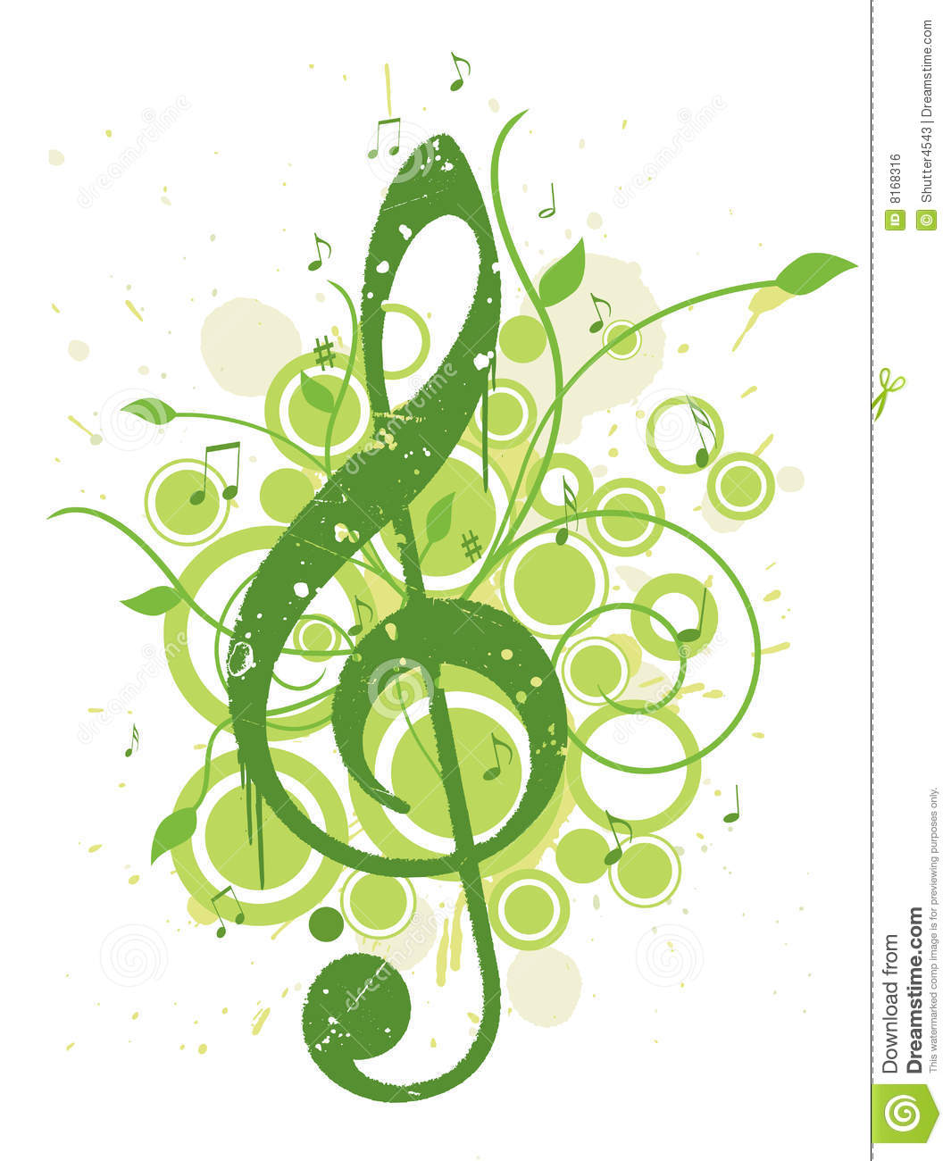 Refreshing Spring Music Background Royalty Free Stock Image - Image ...