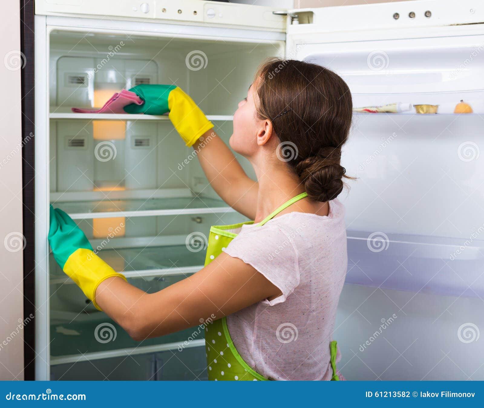 Refrigerador de la limpieza del ama de casa foto de - Fotos de limpieza de casas ...